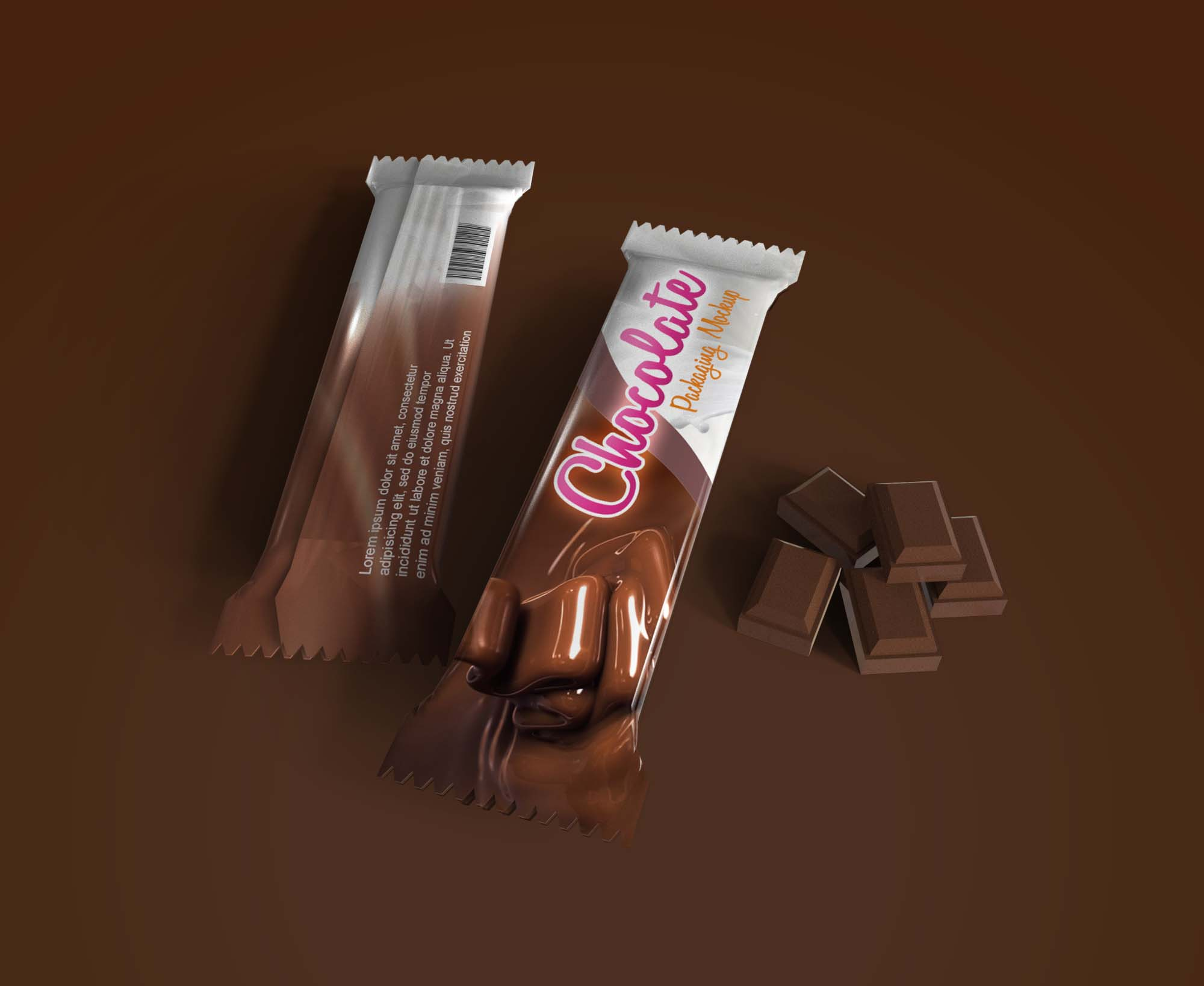 Chocolate Pack Mockup