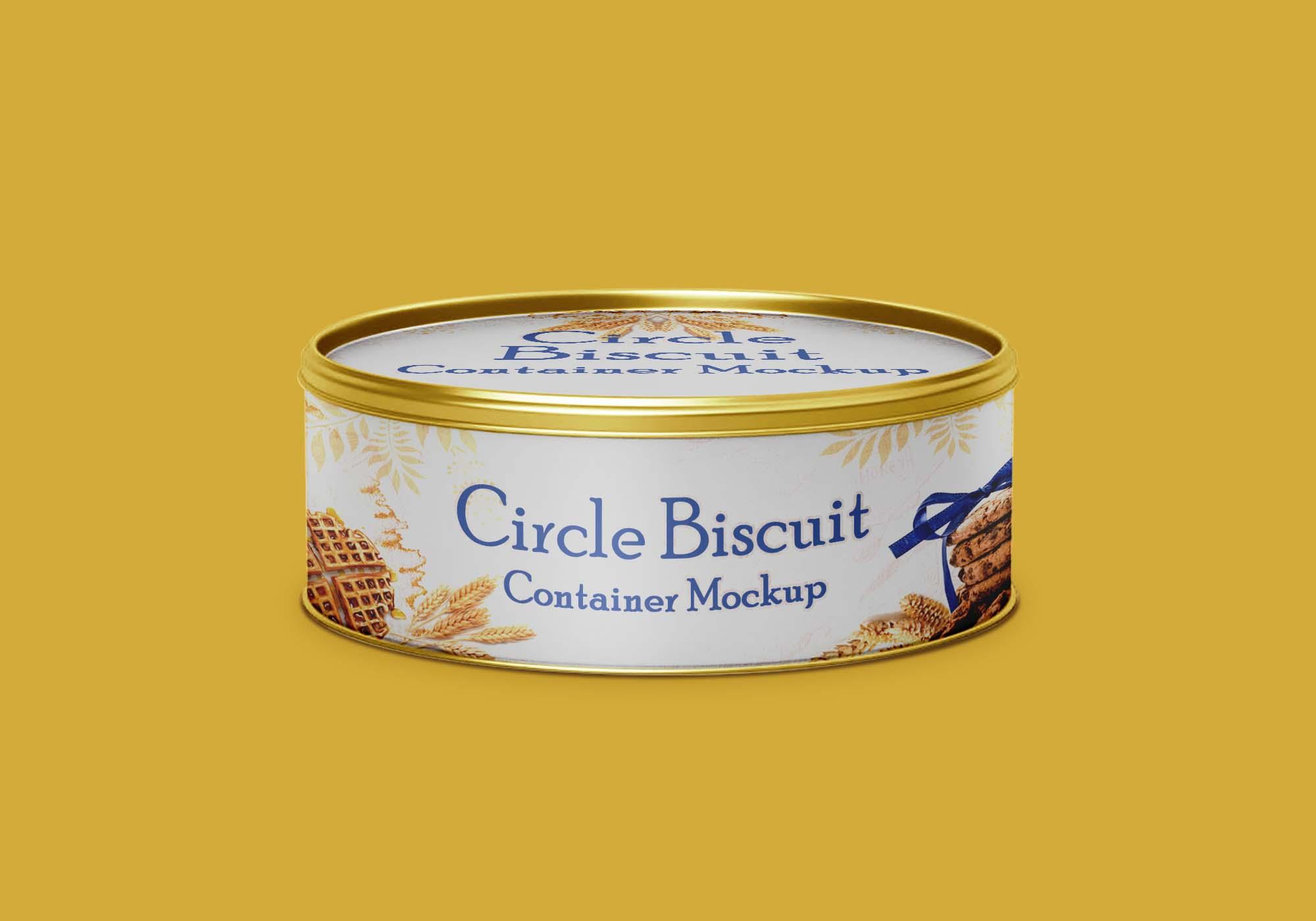 Circle Biscuit Mockup