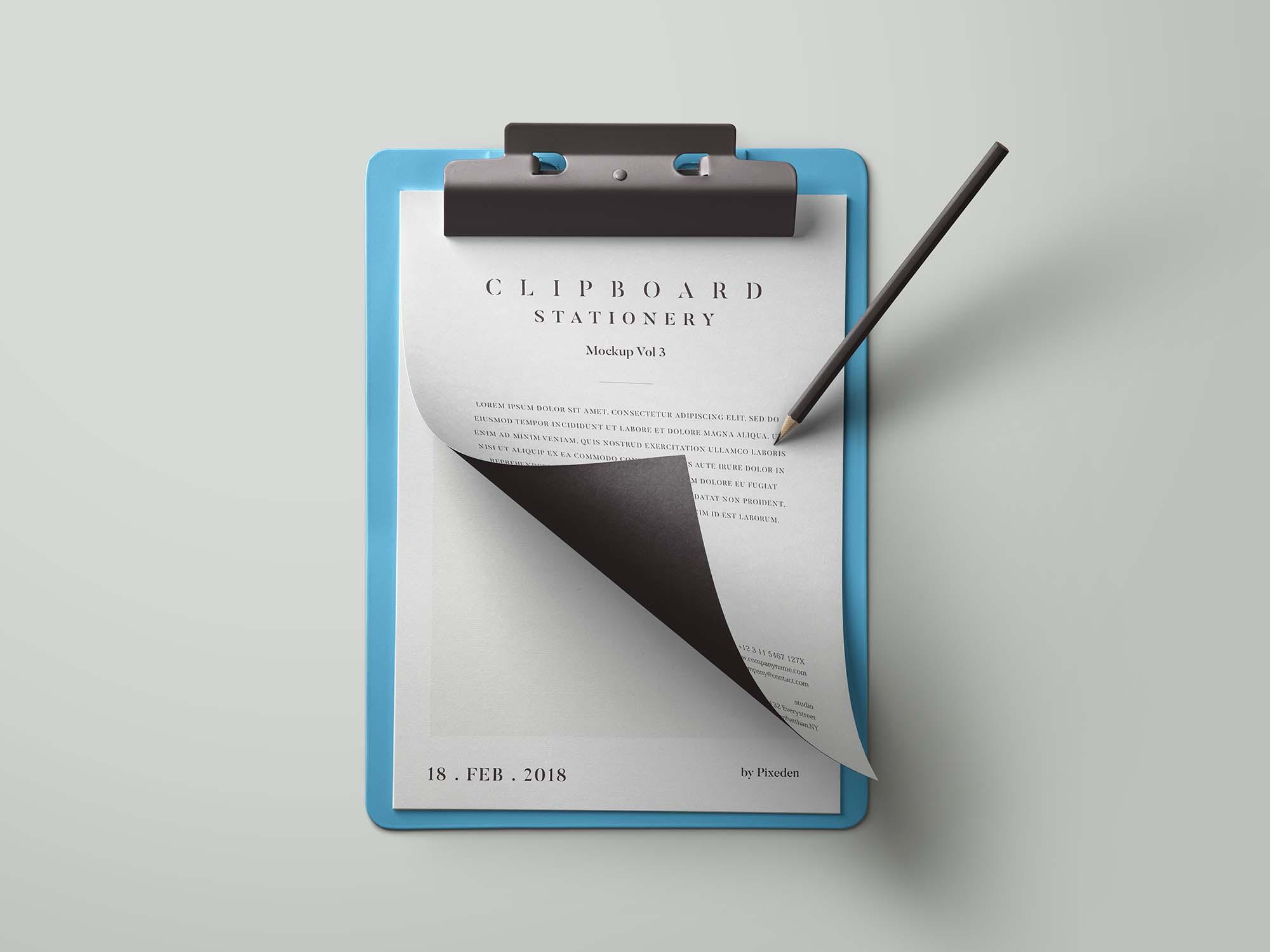 Clipboard Stationery Mockup
