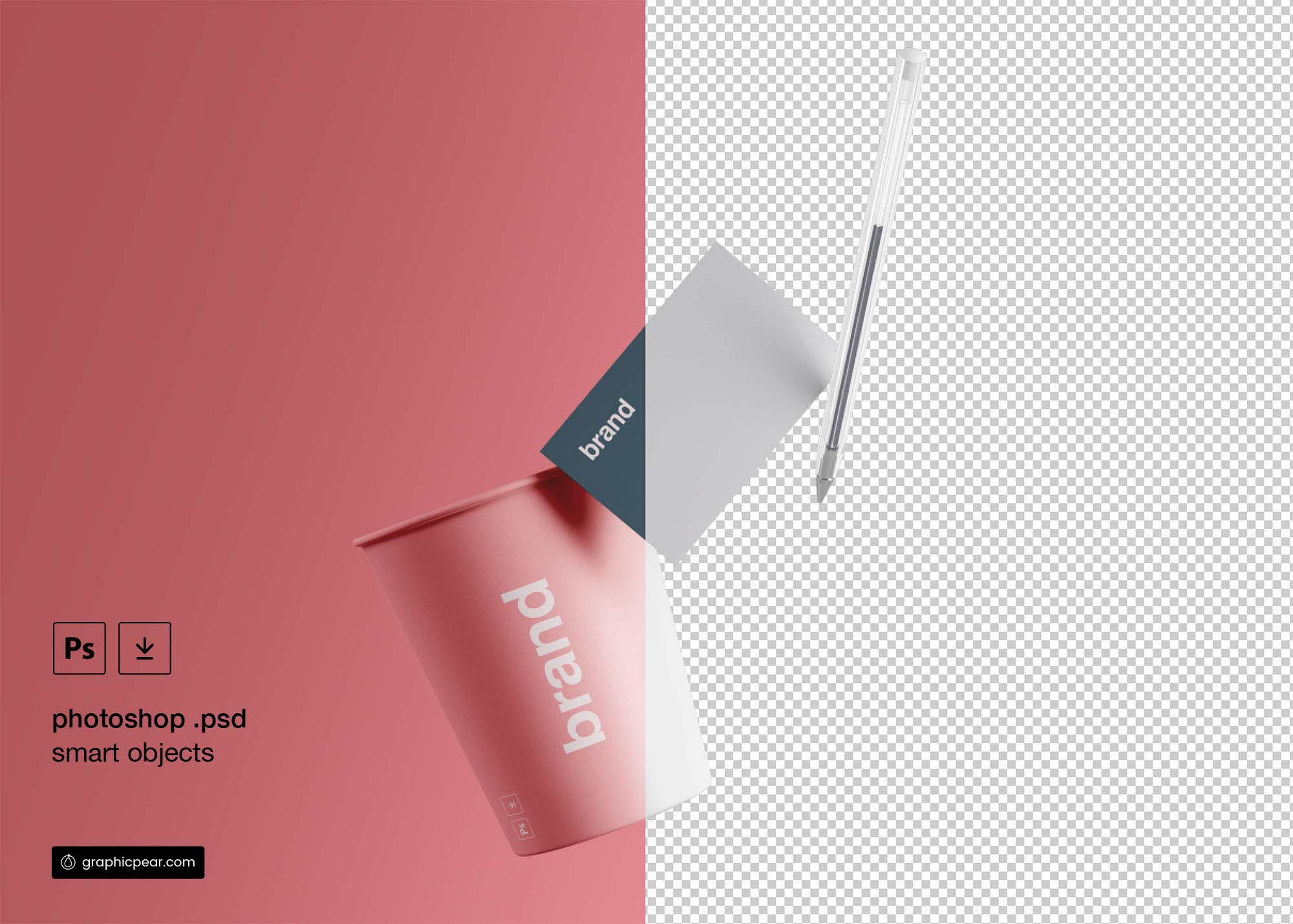 Cup and Business Card Mockup