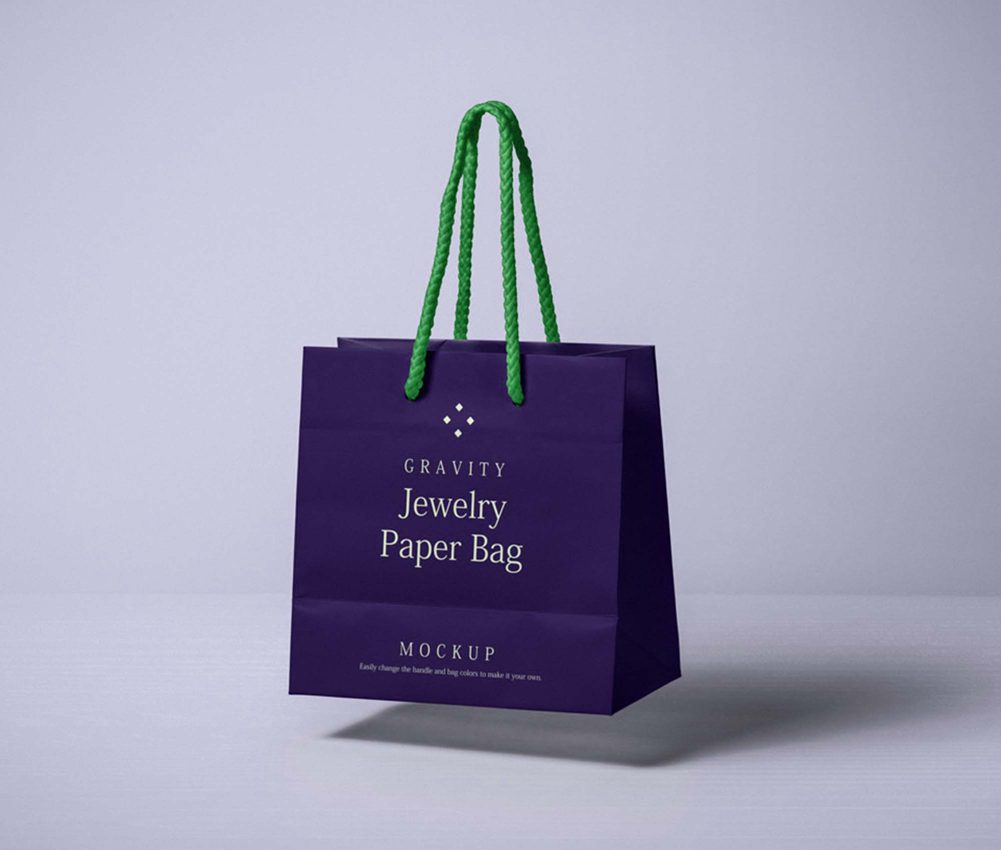 Gravity Paper Bag Mockup