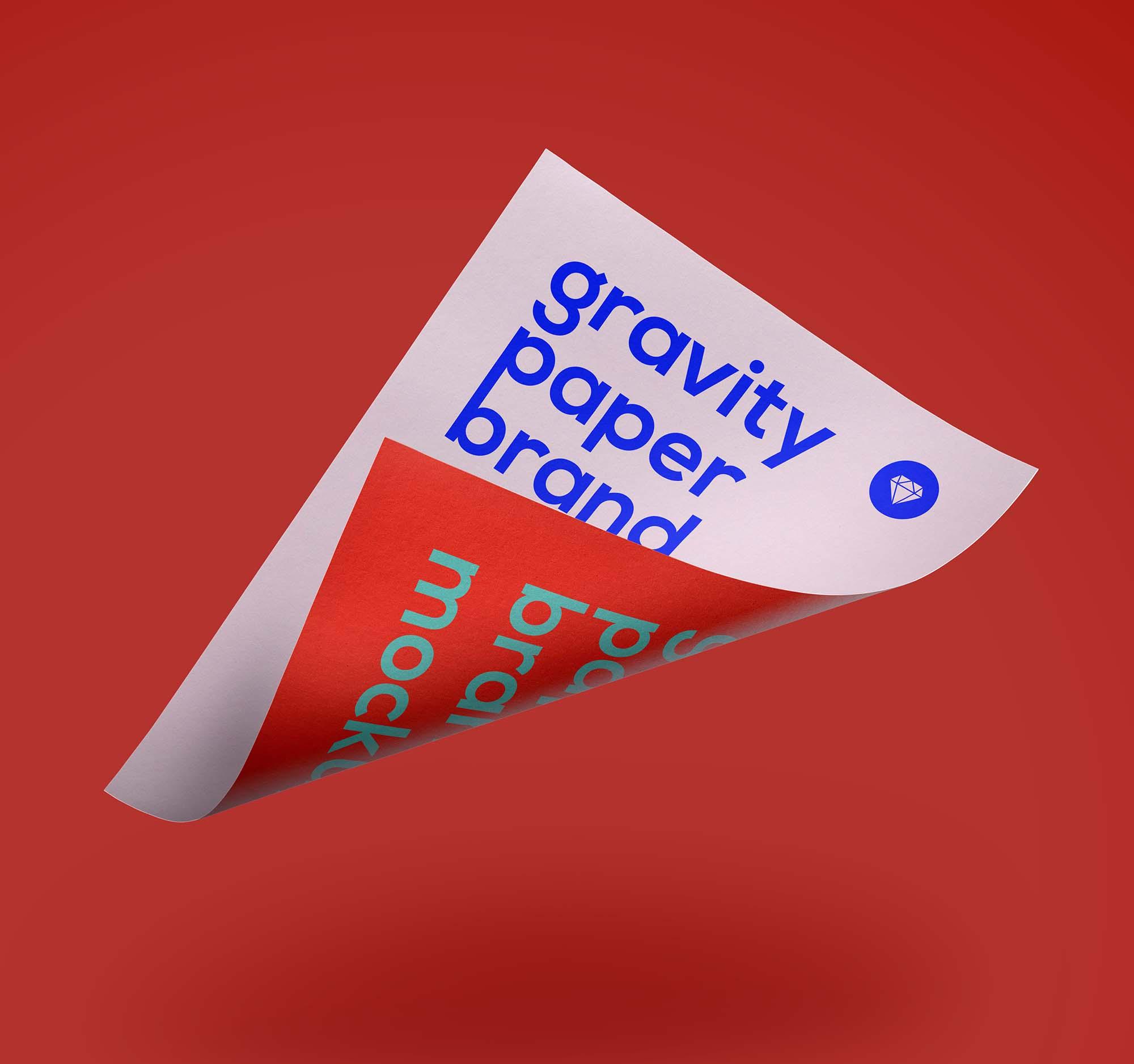 Gravity Paper Mockup