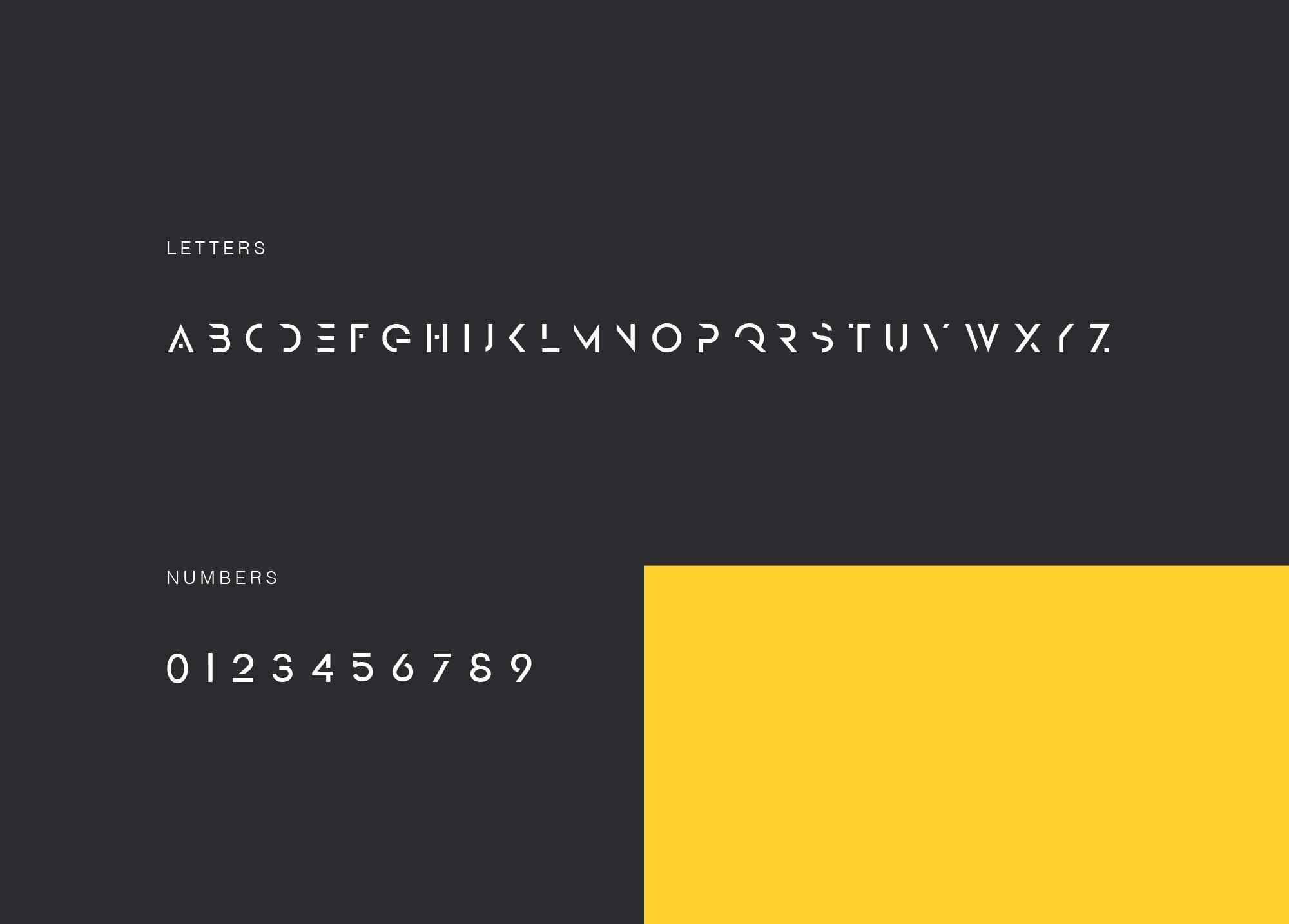 Grey Font Letters
