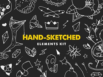 Hand-Sketched Elements Kit