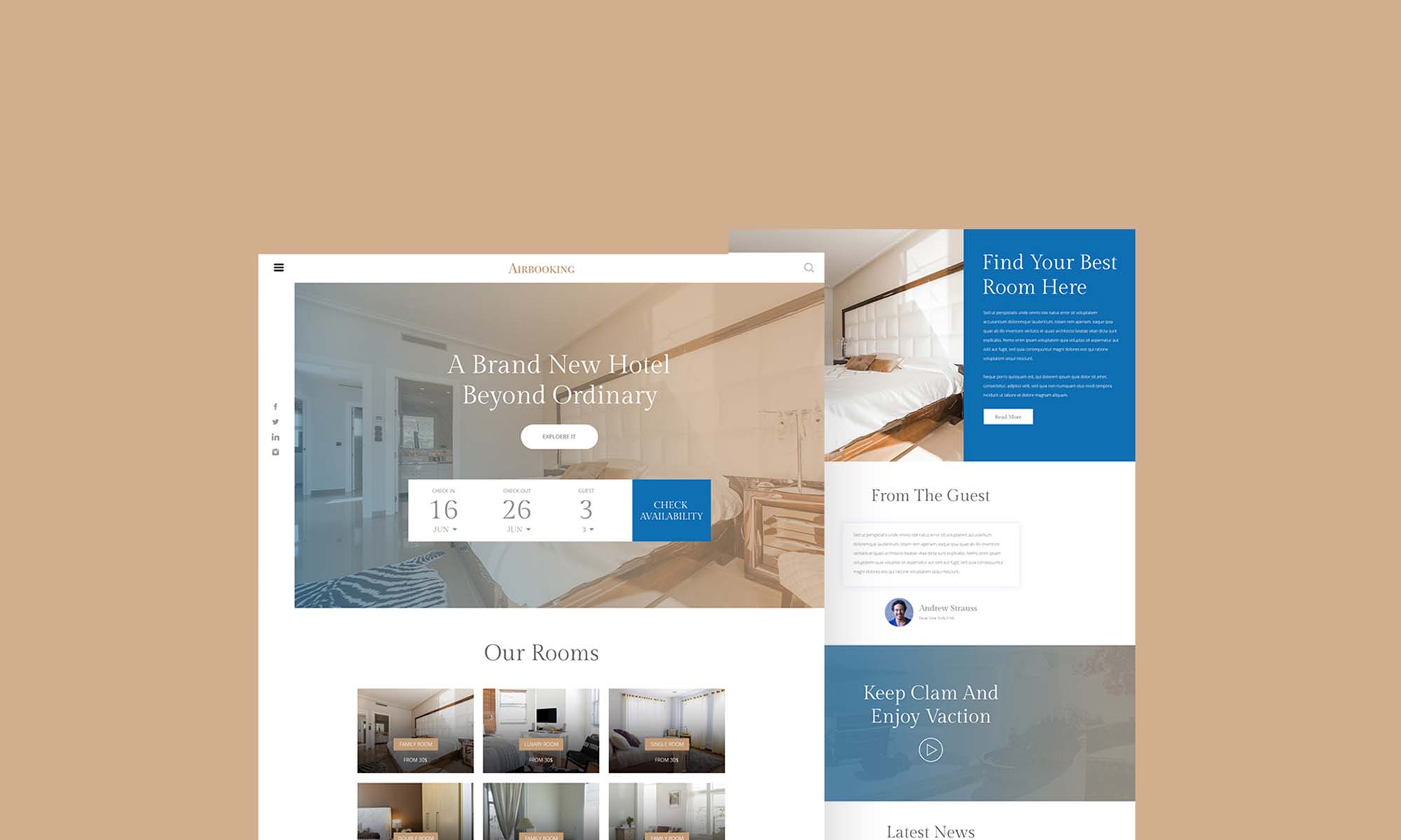 Hotel Booking Website Template