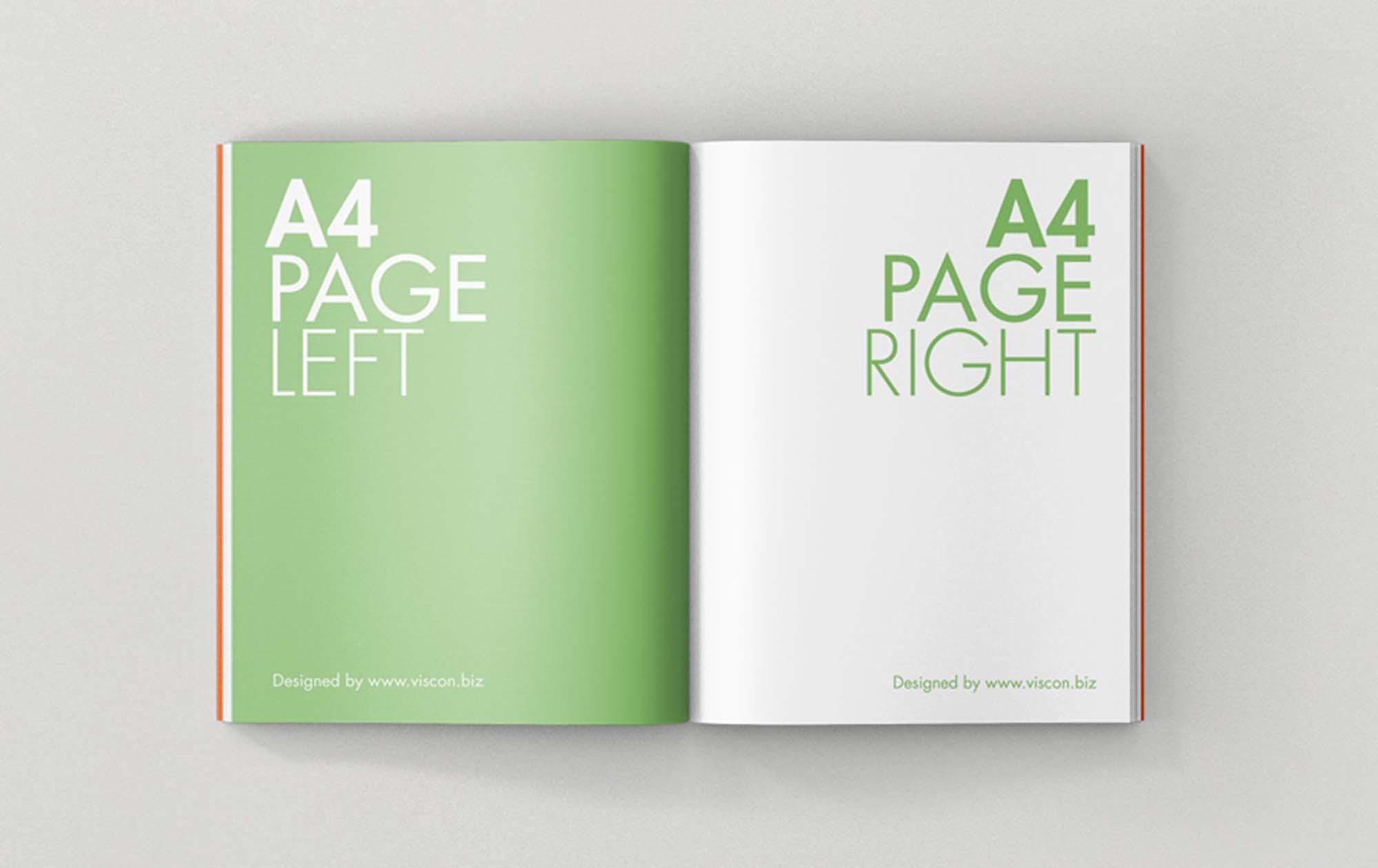 Opened Magazine Mockup