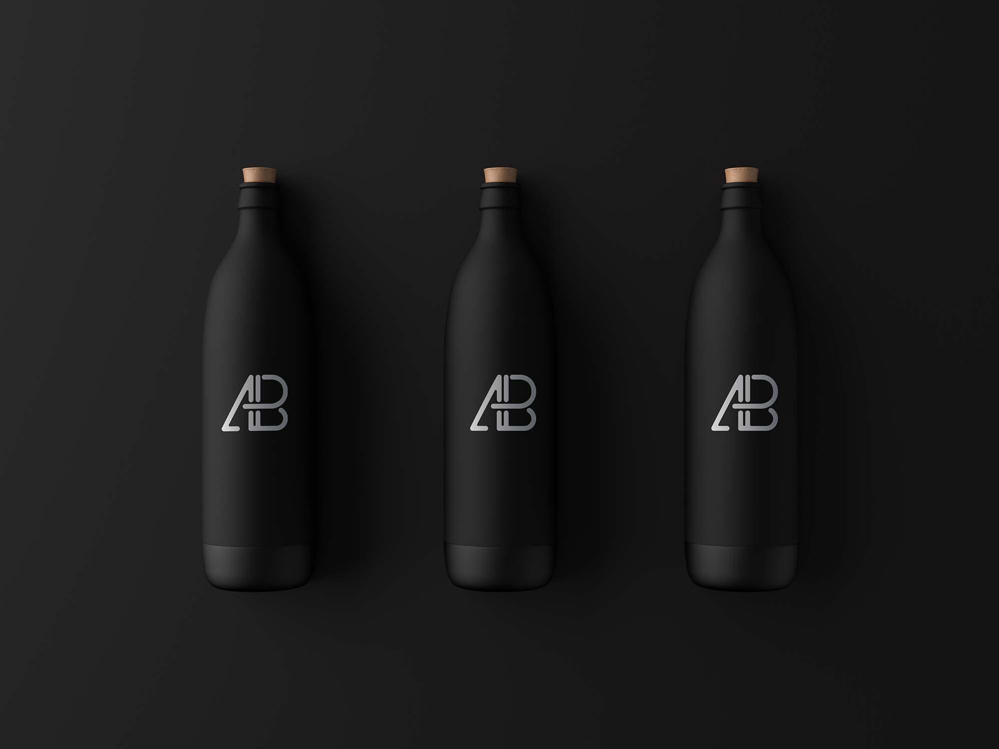 Matte Black Bottle Mockup by Anthony Boyd Graphics