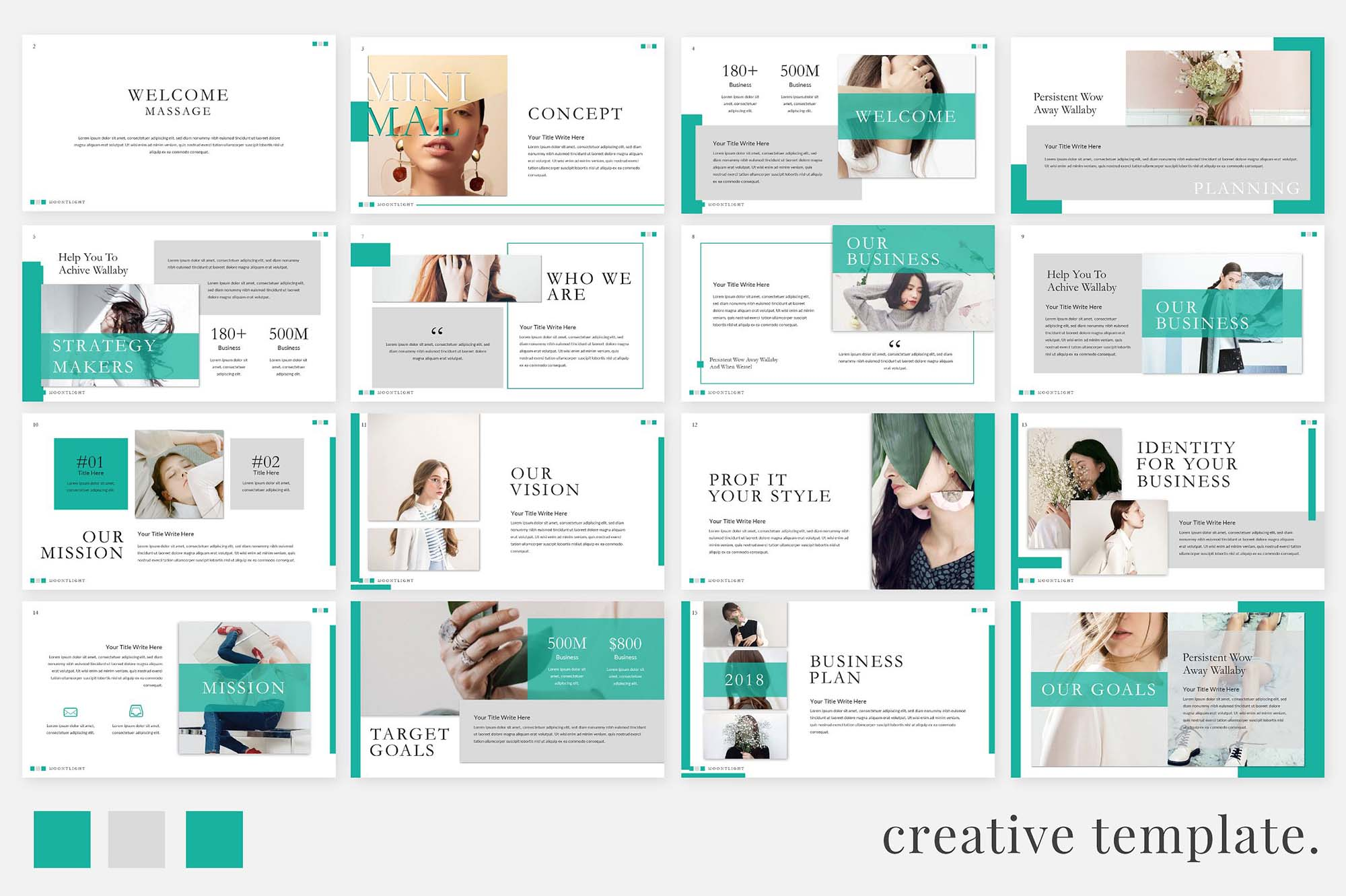 Moonlight Free Creative Powerpoint Template