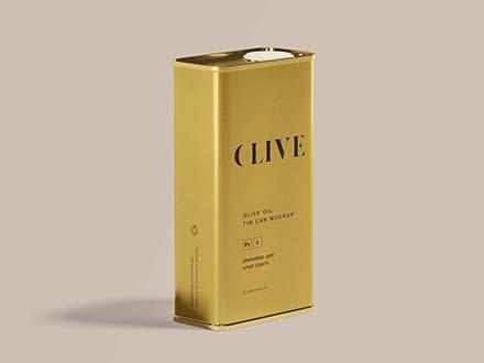 Olive Oil Tin Can Mockup