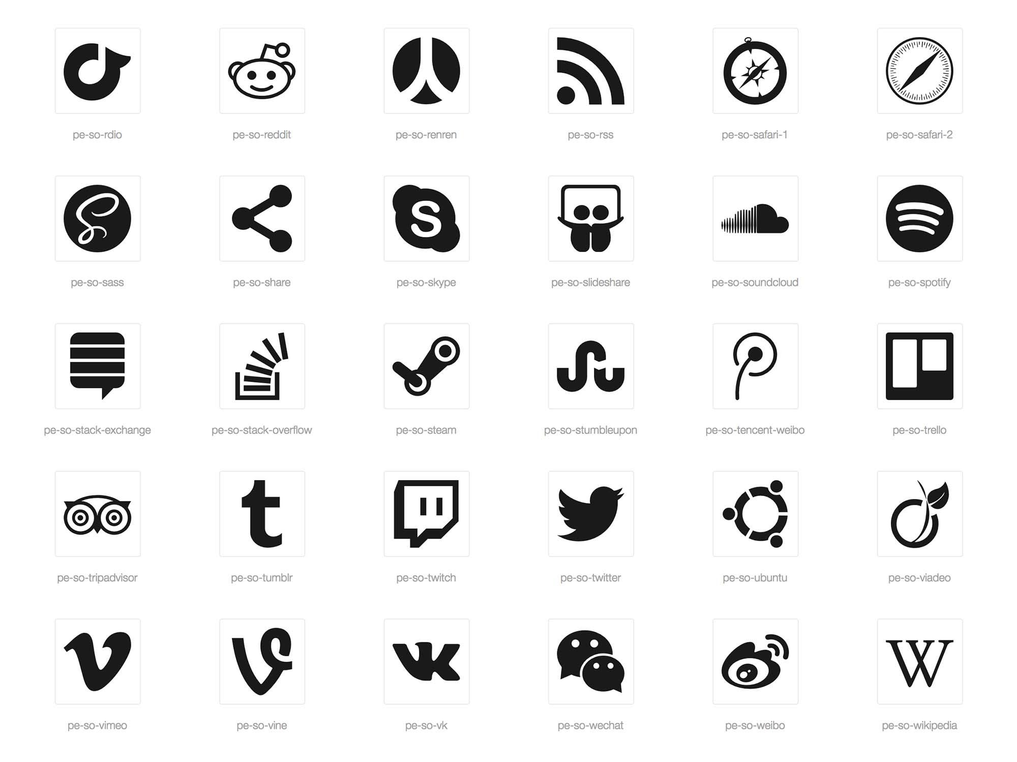Social Media Icons Part 3