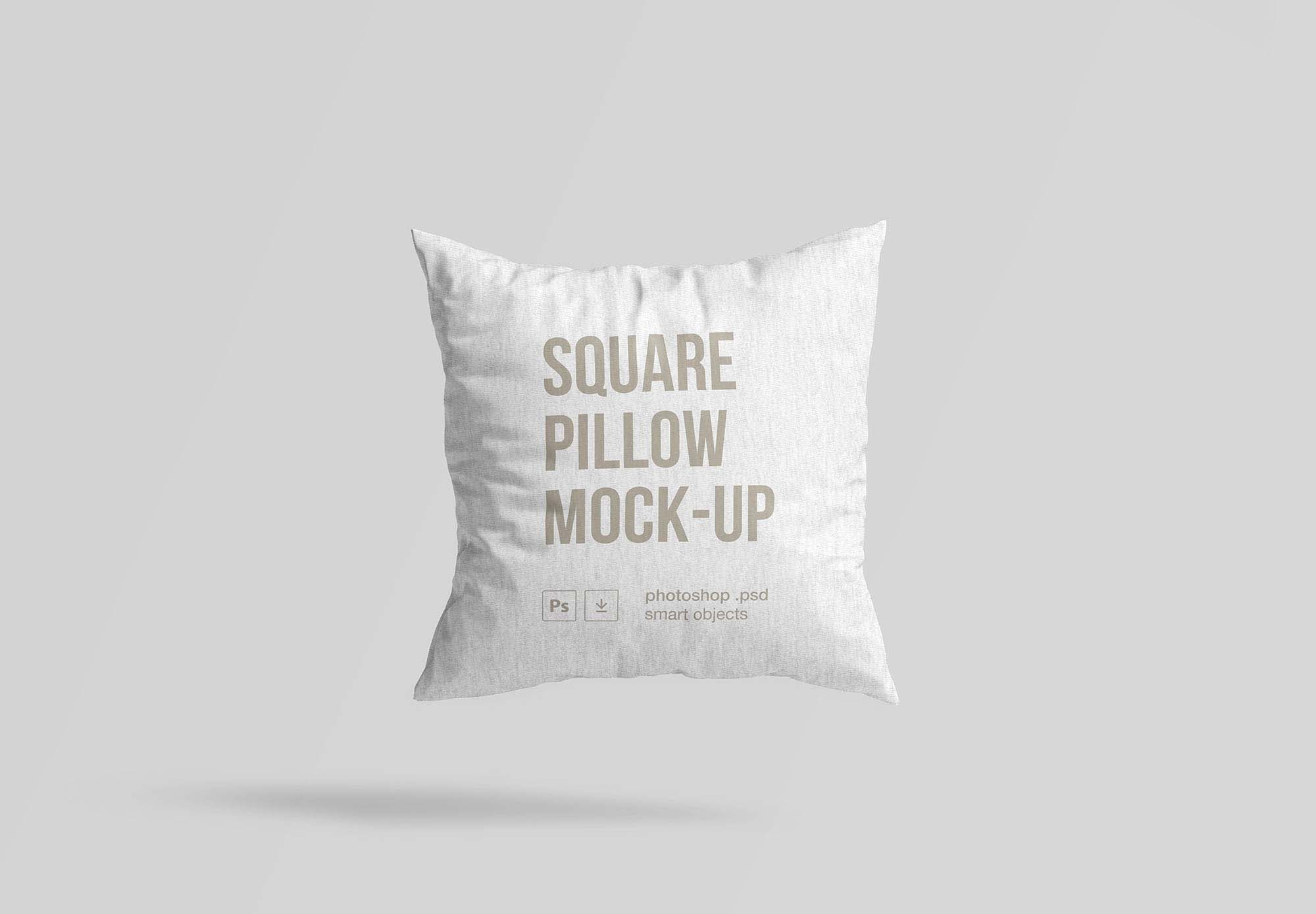 White Square Pillow Mockup