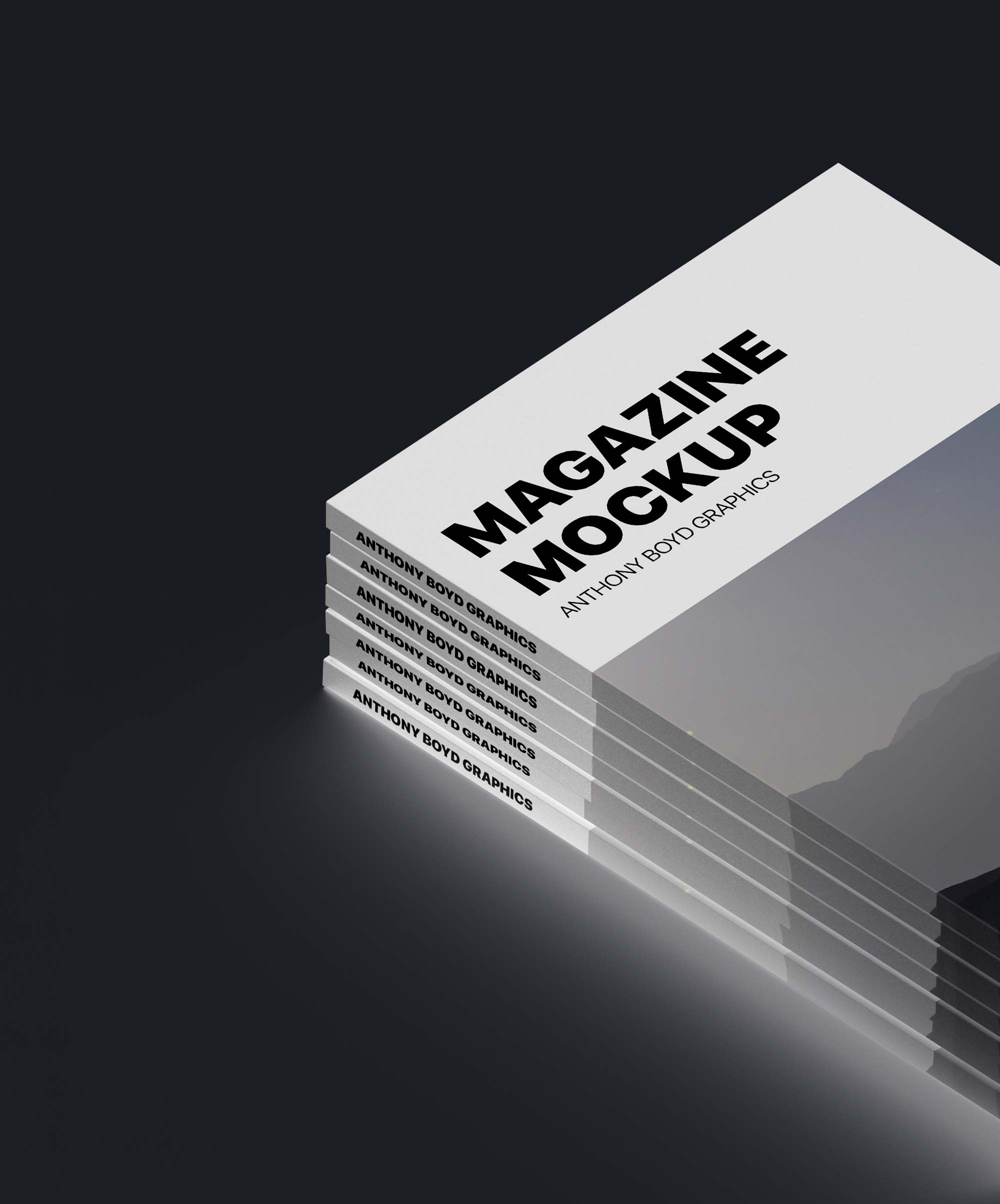 Stacked Magazine Mockup