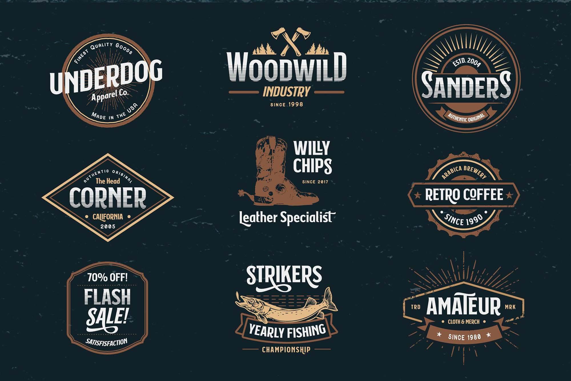 Subversia Typeface Badges