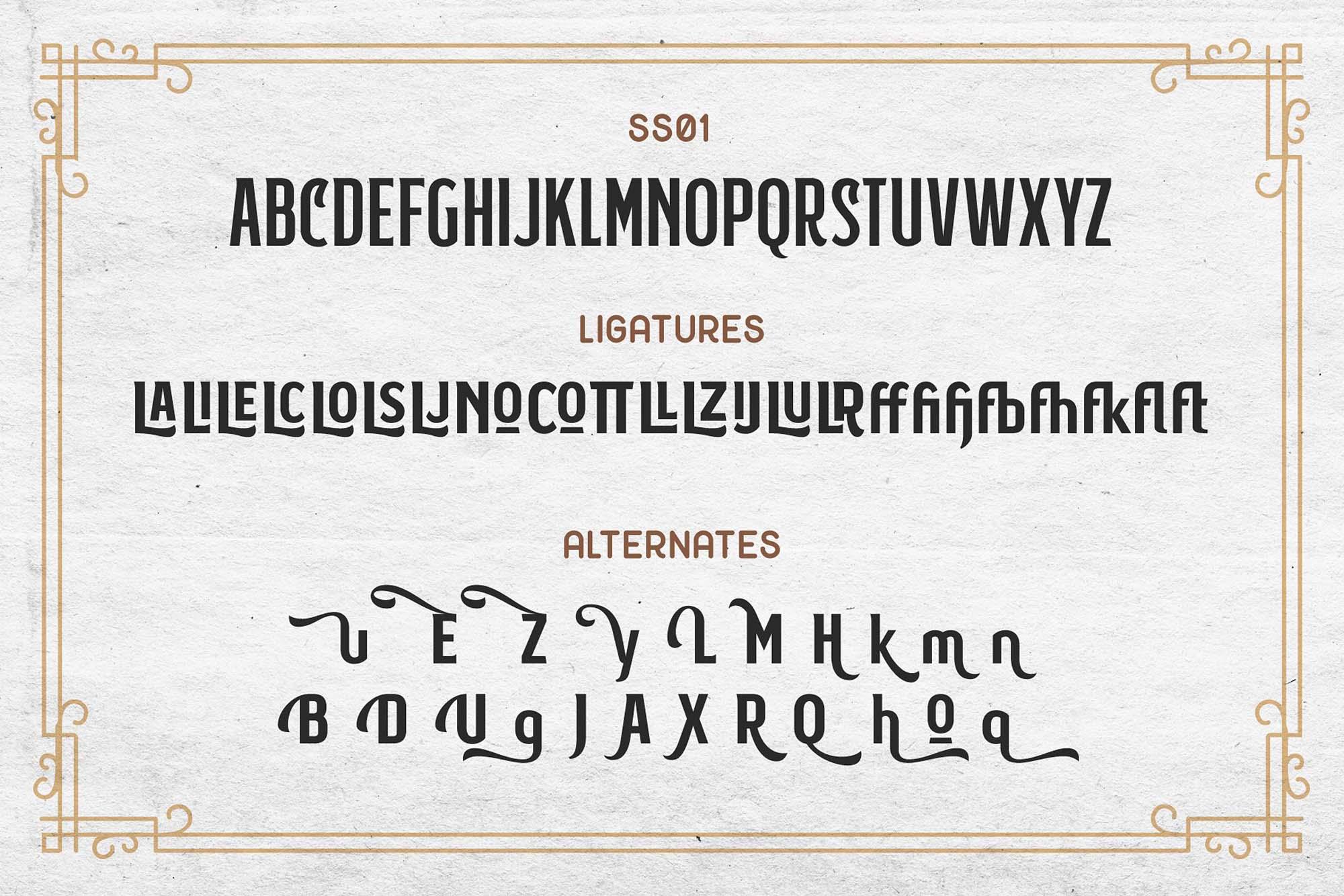 Subversia Typeface Alphabets