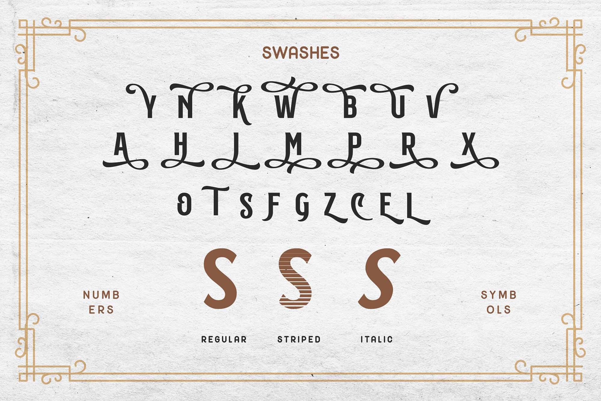 Subversia Typeface Letters