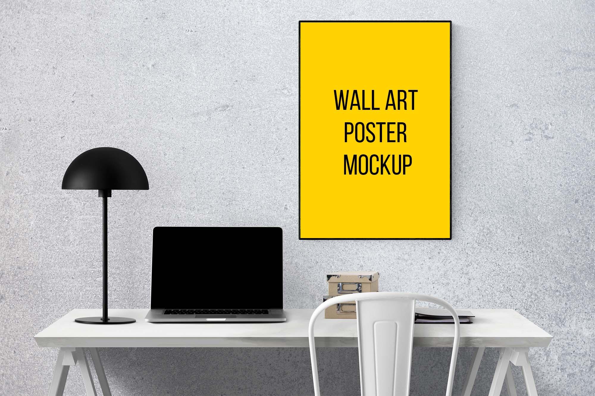 Wall Art Poster Mockup