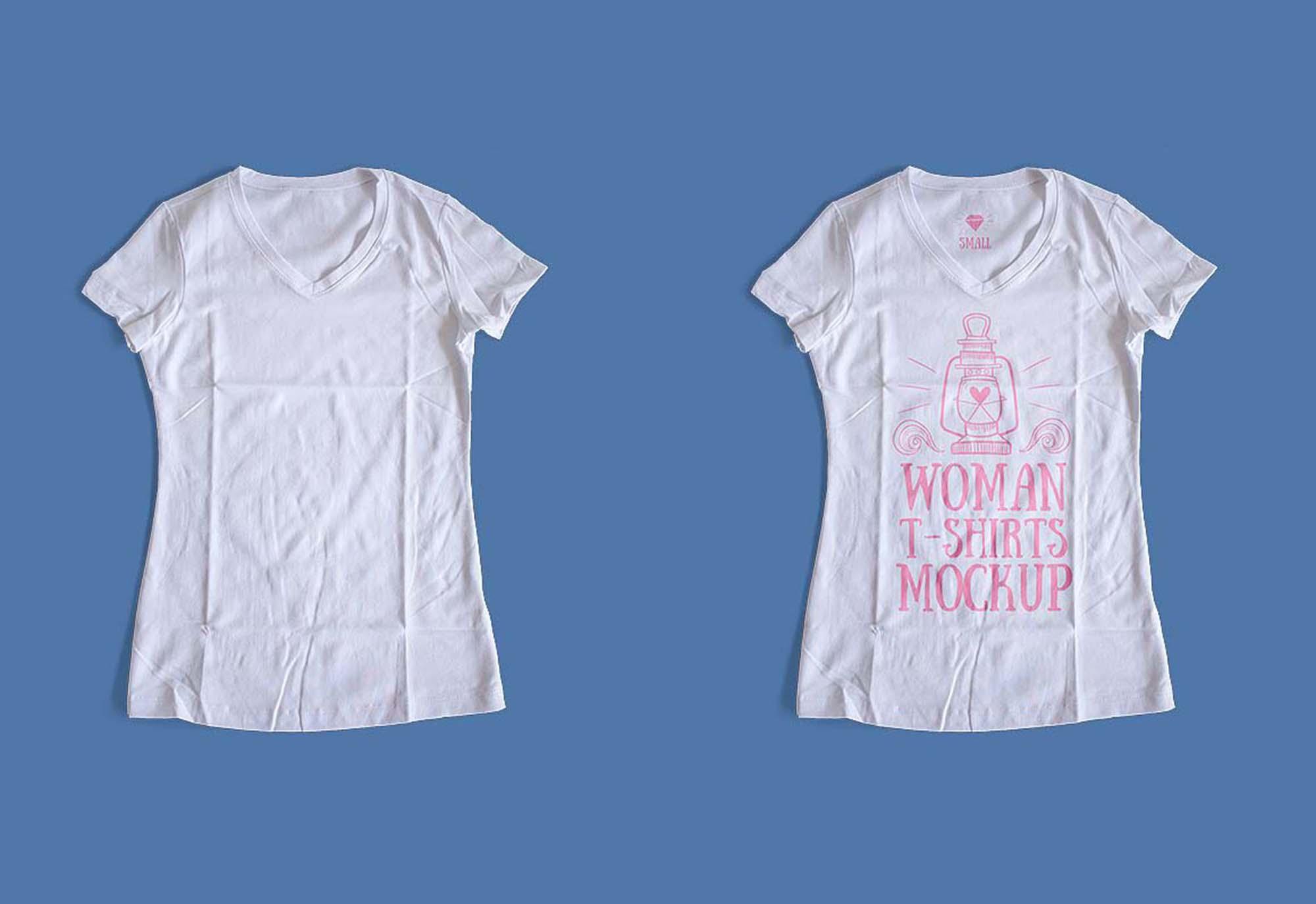 Free Woman T Shirt Mockup Psd