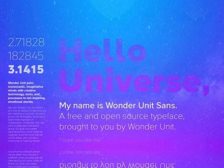 Wonder Unit Sans Font