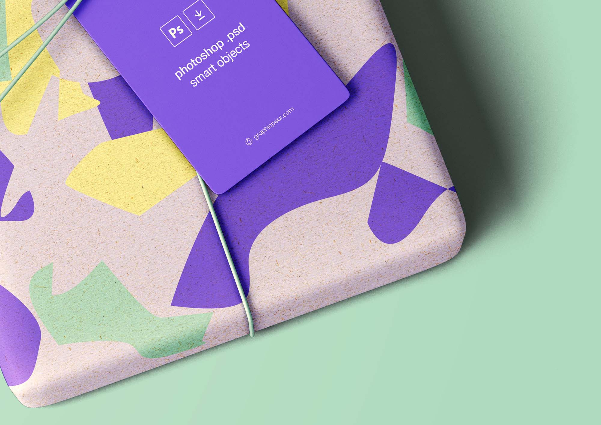 Free Wrapped Gift Mockup Psd