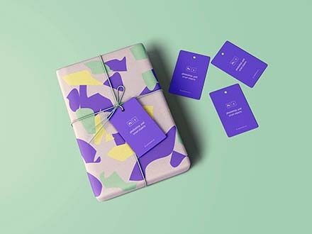 Wrapped Gift Mockup