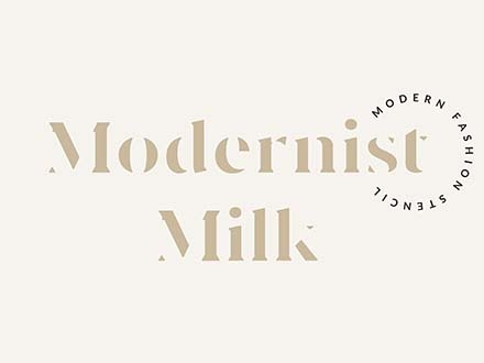 modernist milk font