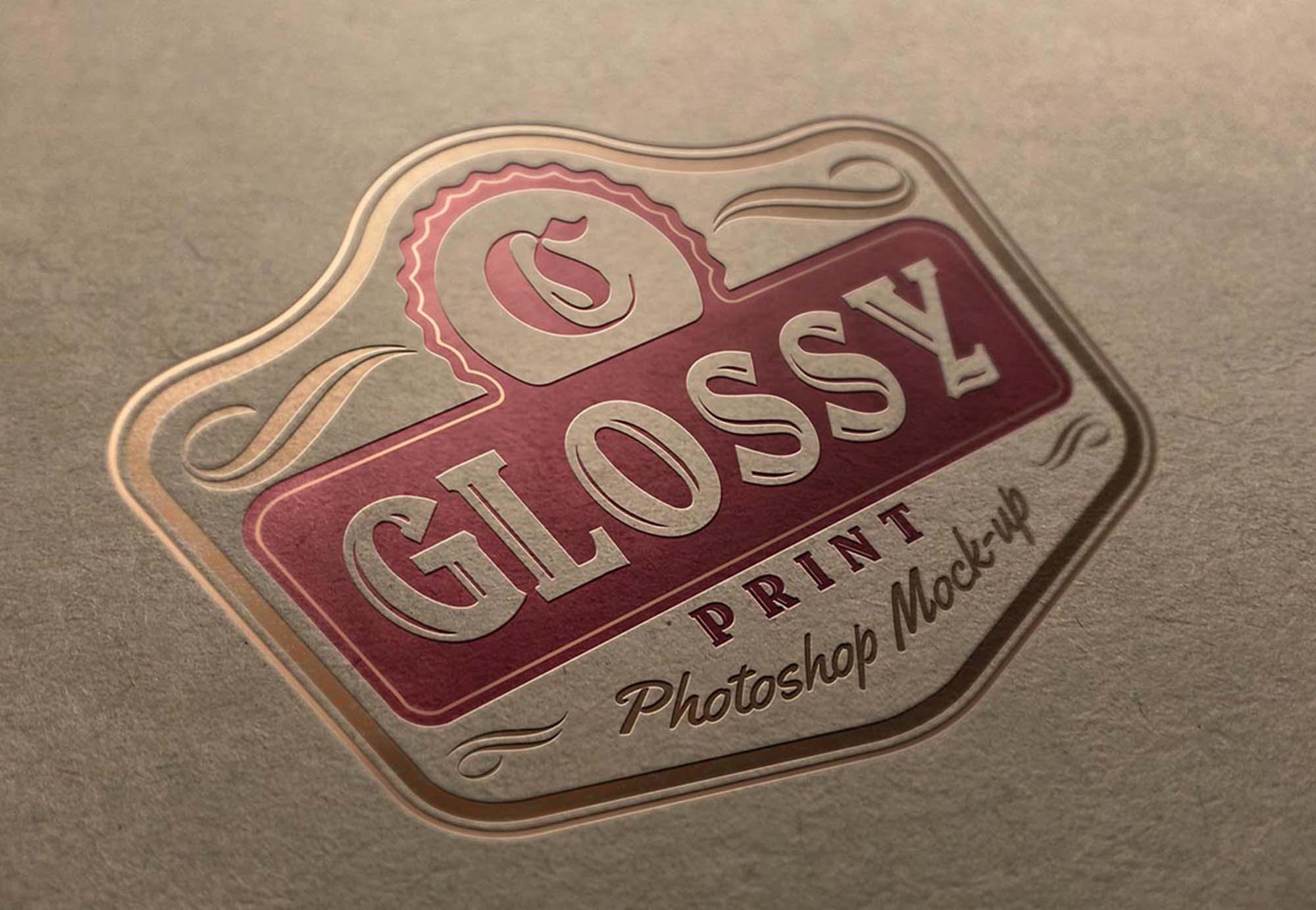 printed logo mockup