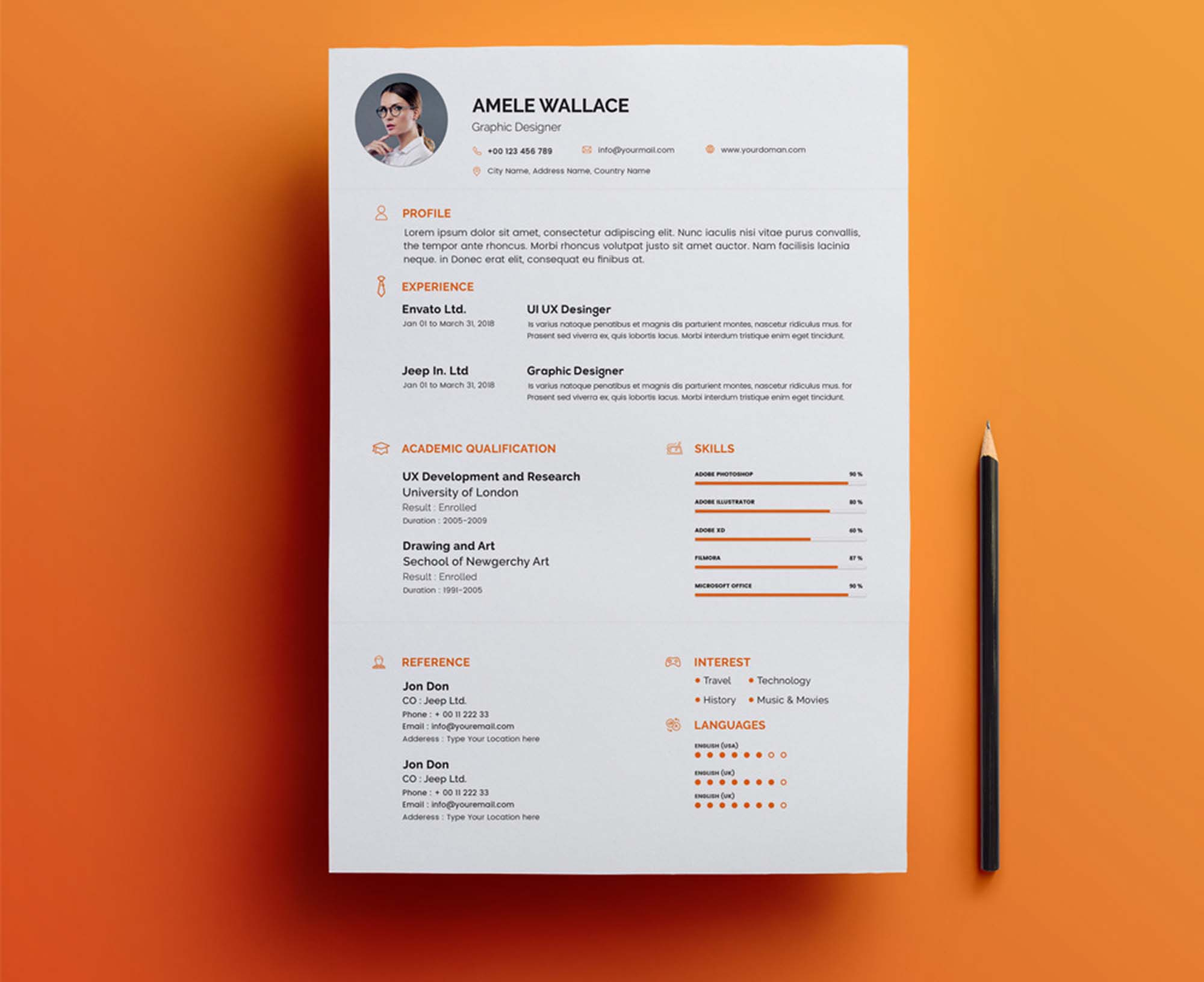 Free Smart Resume Cv With Cover Letter