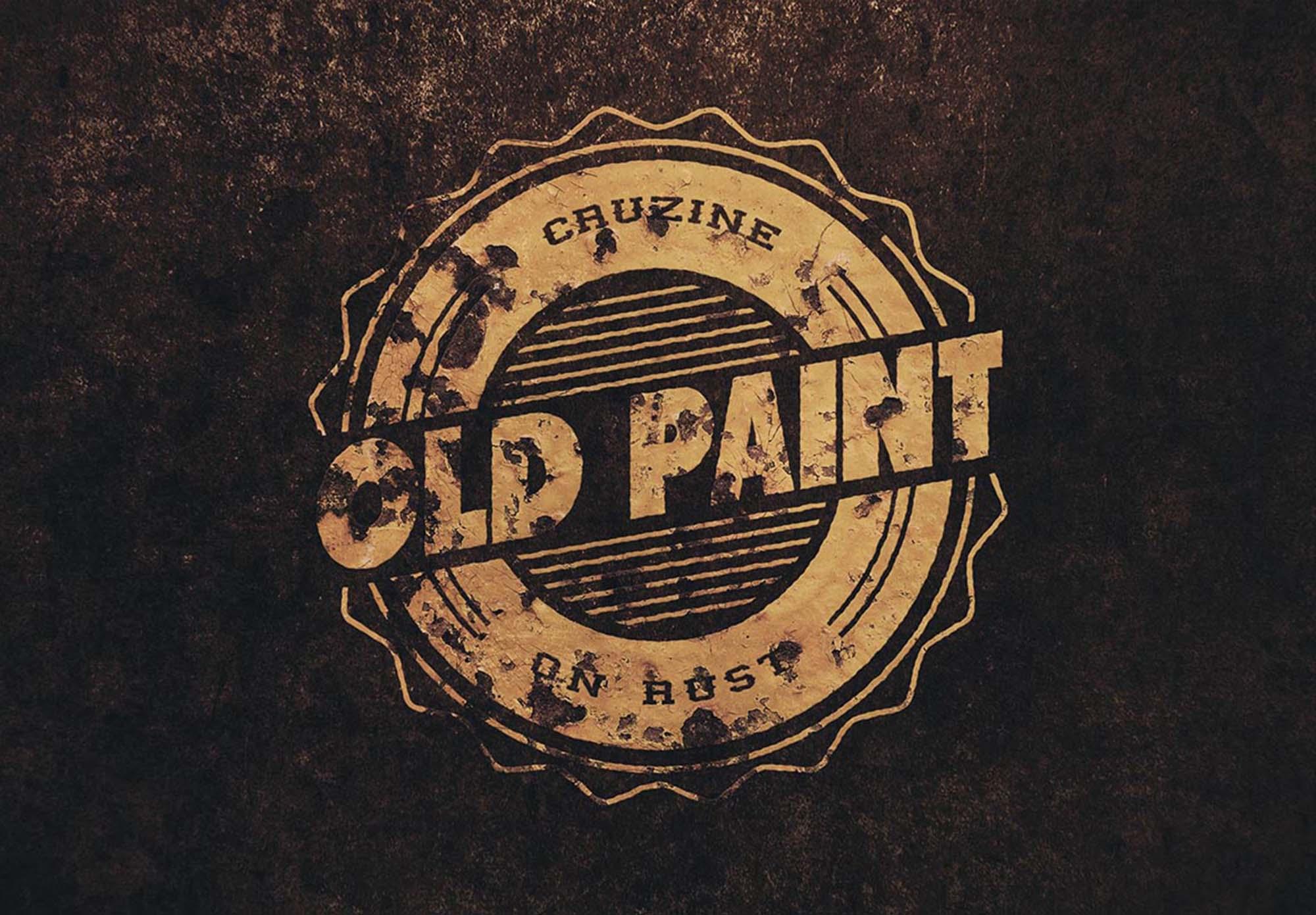 rusted logo mockup