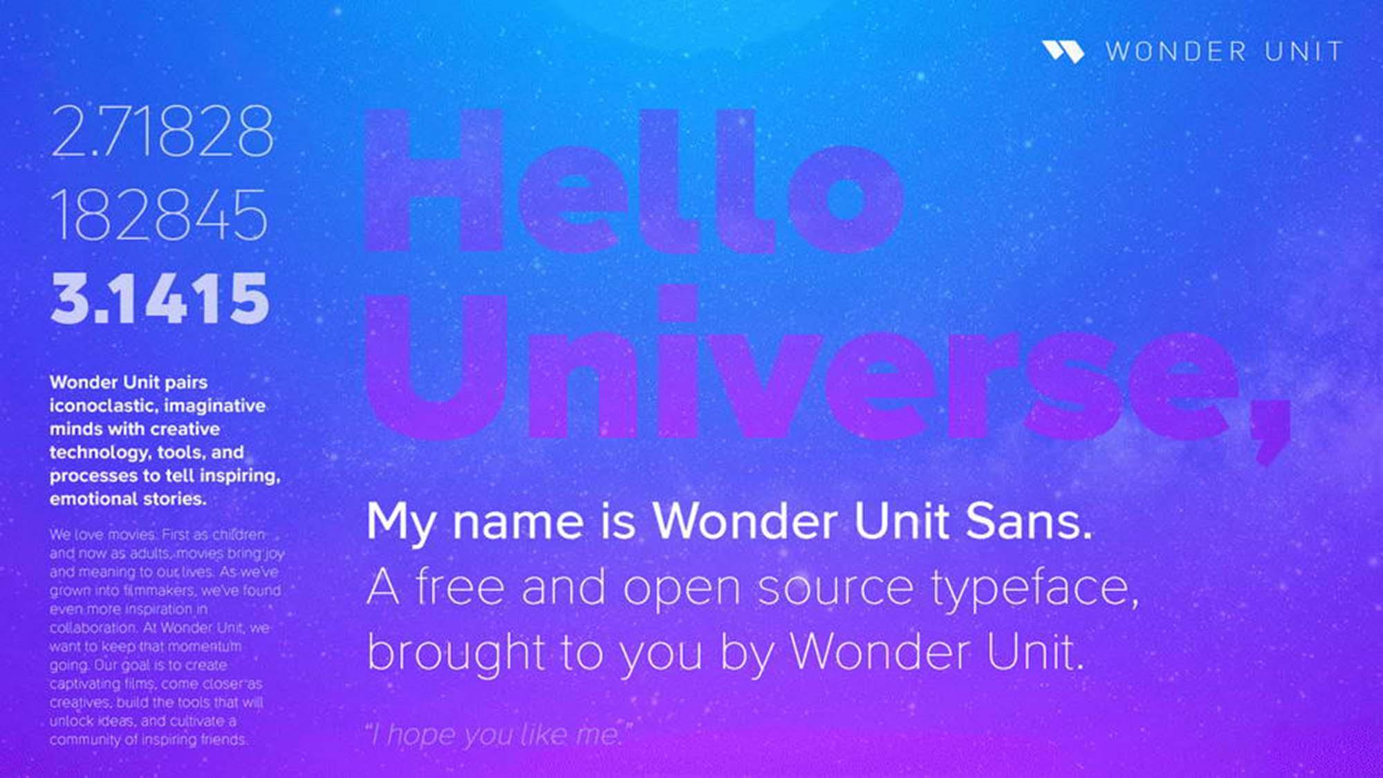 Wonder Unit Sans Font