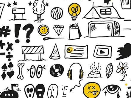 100 Hand-drawn Icons