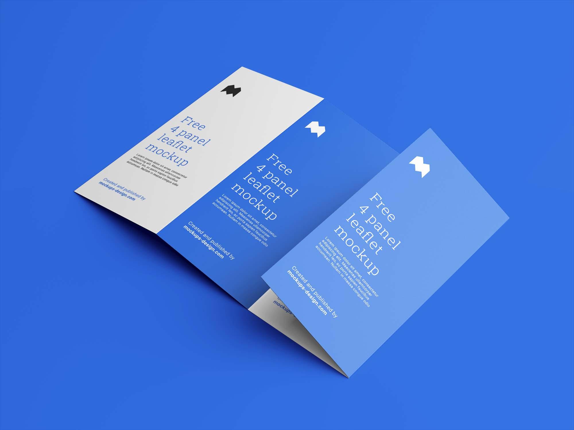 4 Fold Leaflet Mockup
