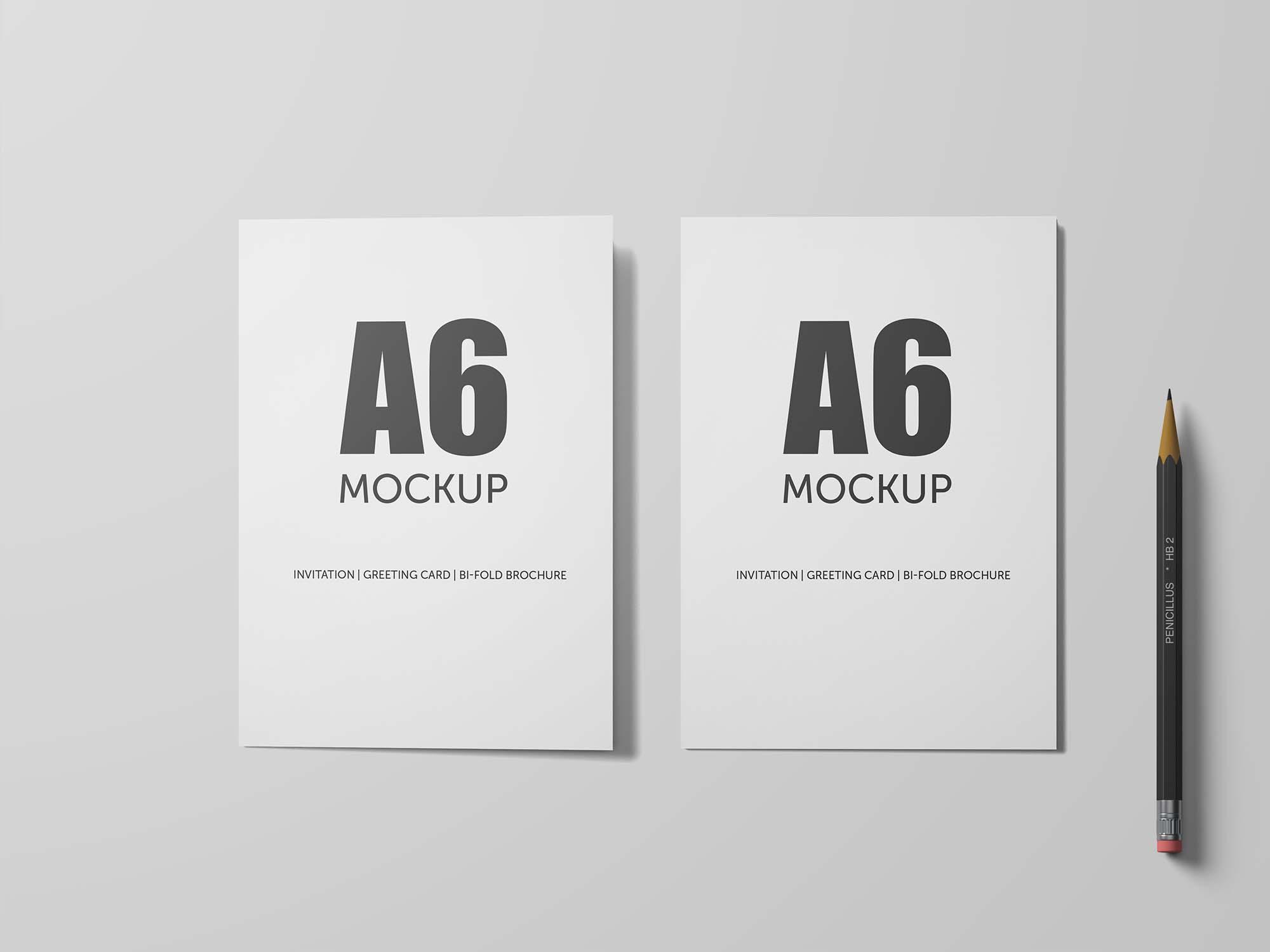 A6 Bifold Mockup