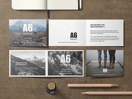 A6 Invitation Card Mockup