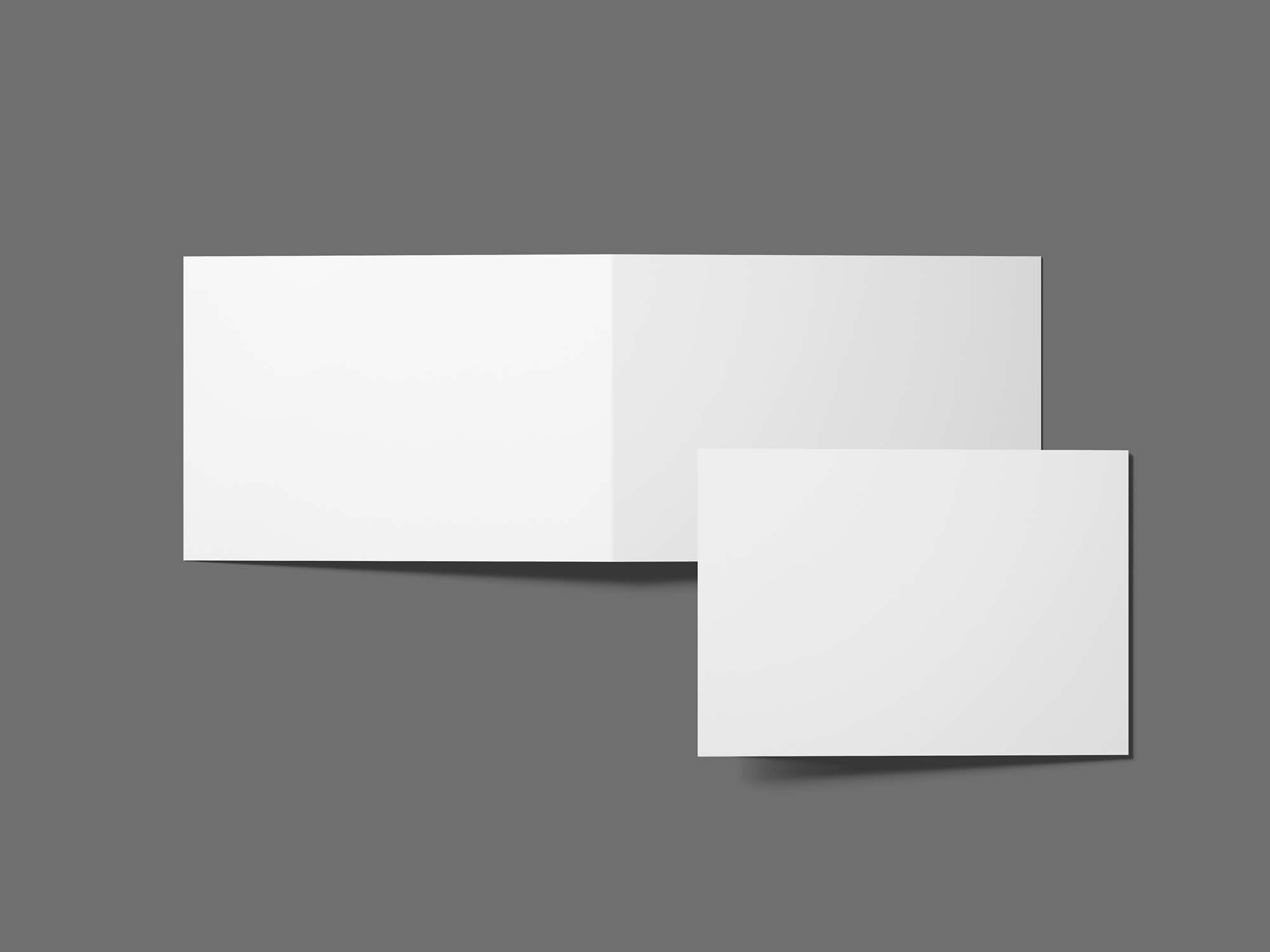 A6 Invitation Card Mockup