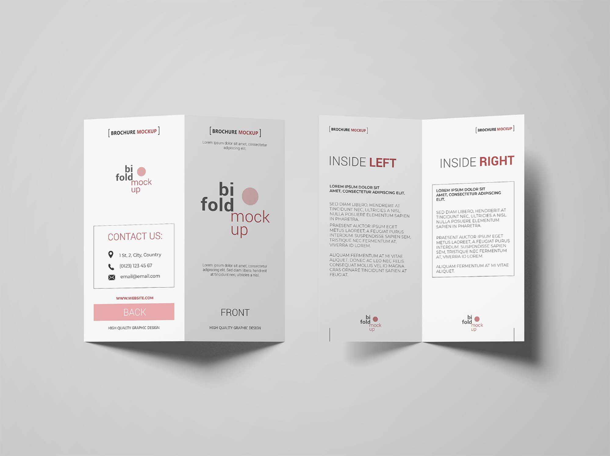 Bifold Invitation Mockup