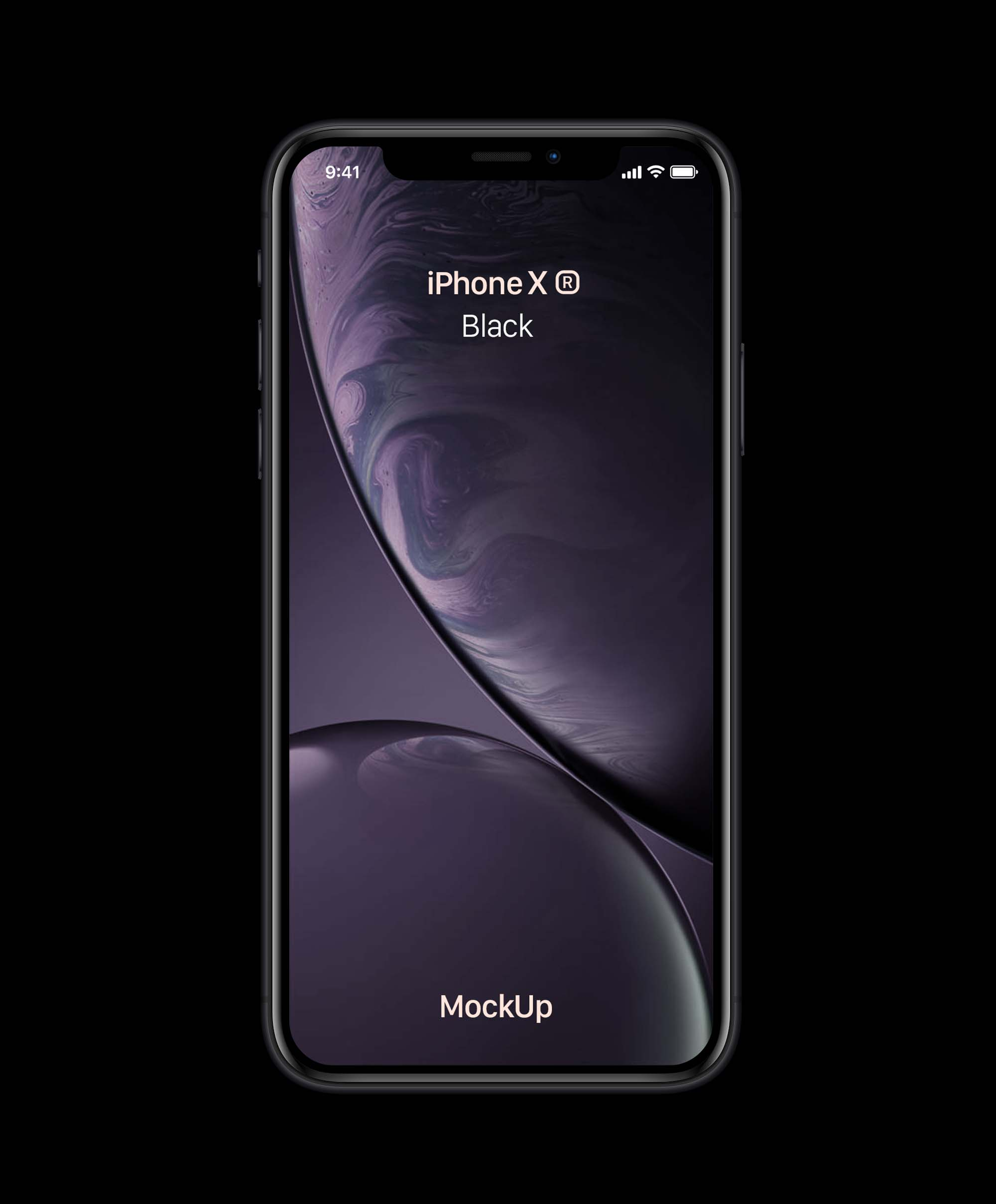 Black iPhone XR Mockup
