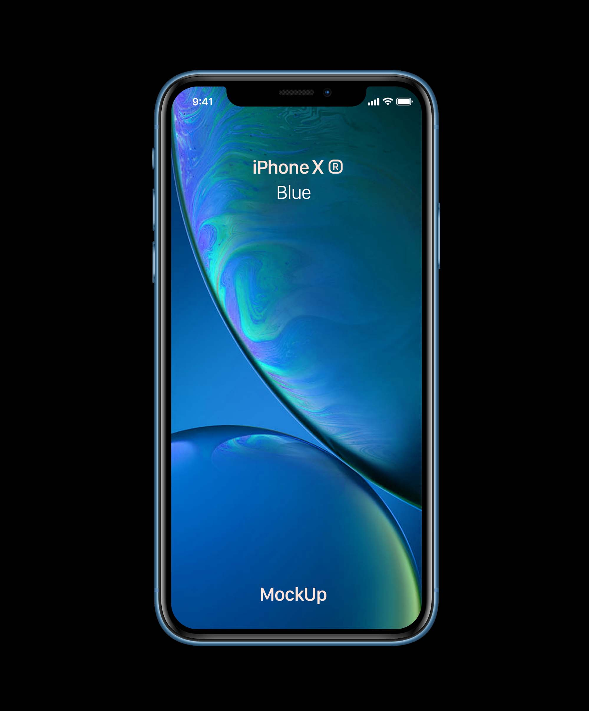 Blue iPhone XR Mockup