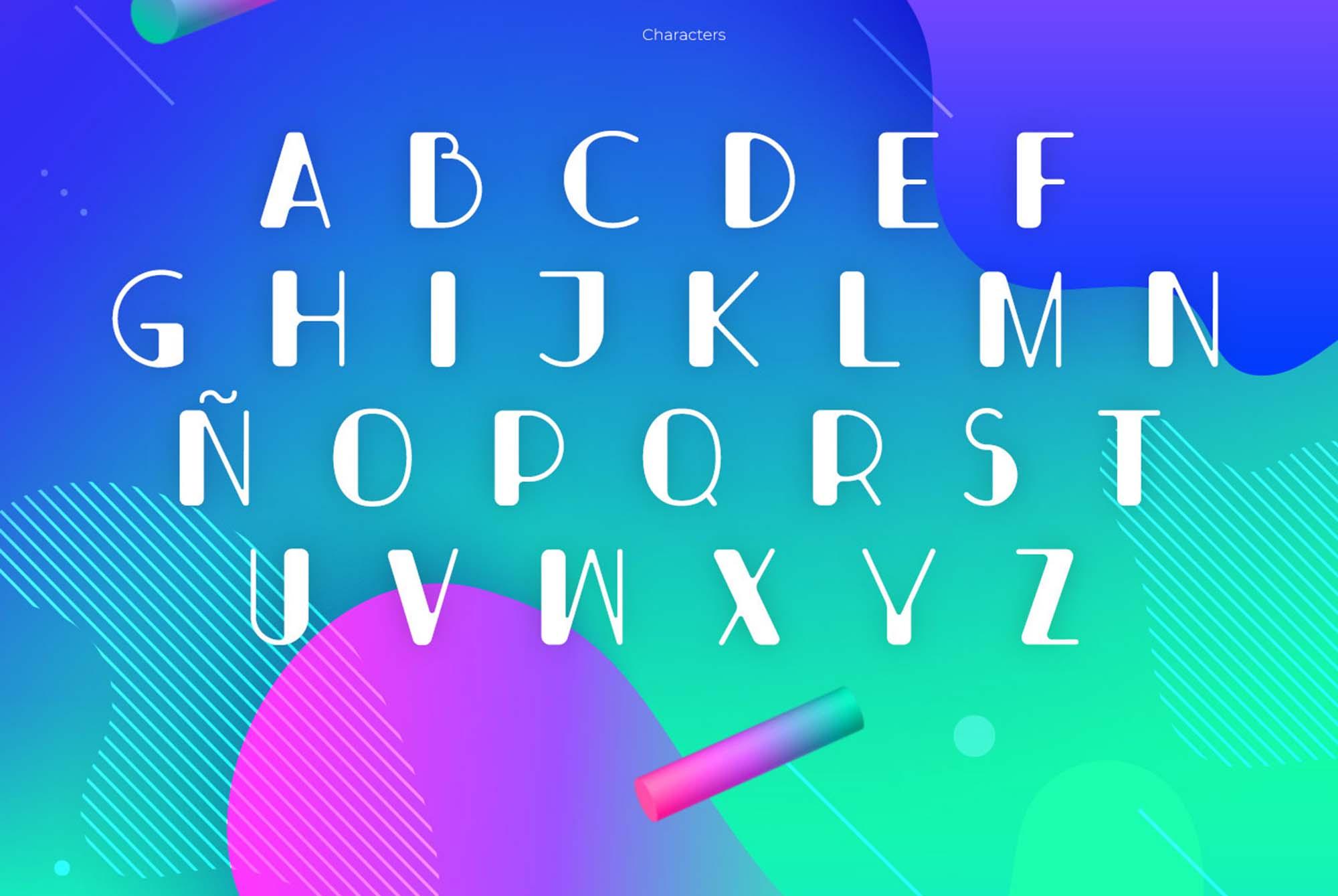 Bondi Font Letters