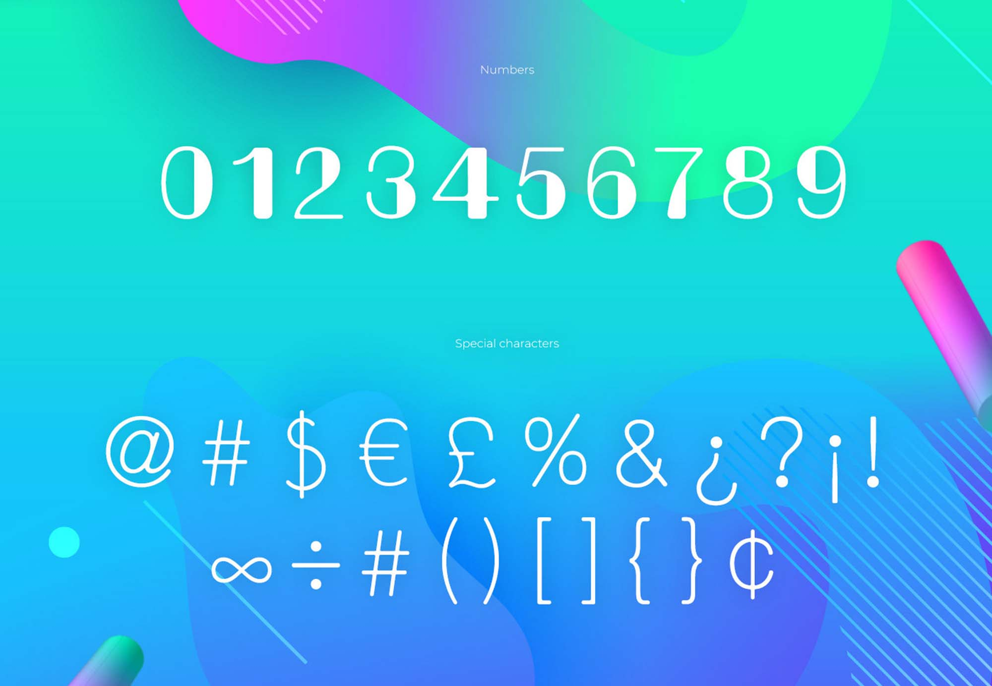 Bondi Font Numerals