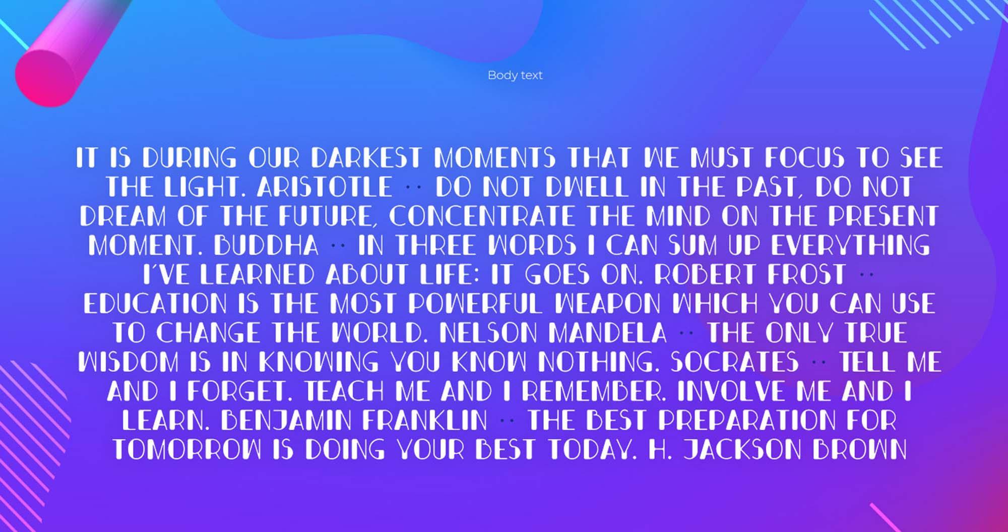 Bondi Font Body Text