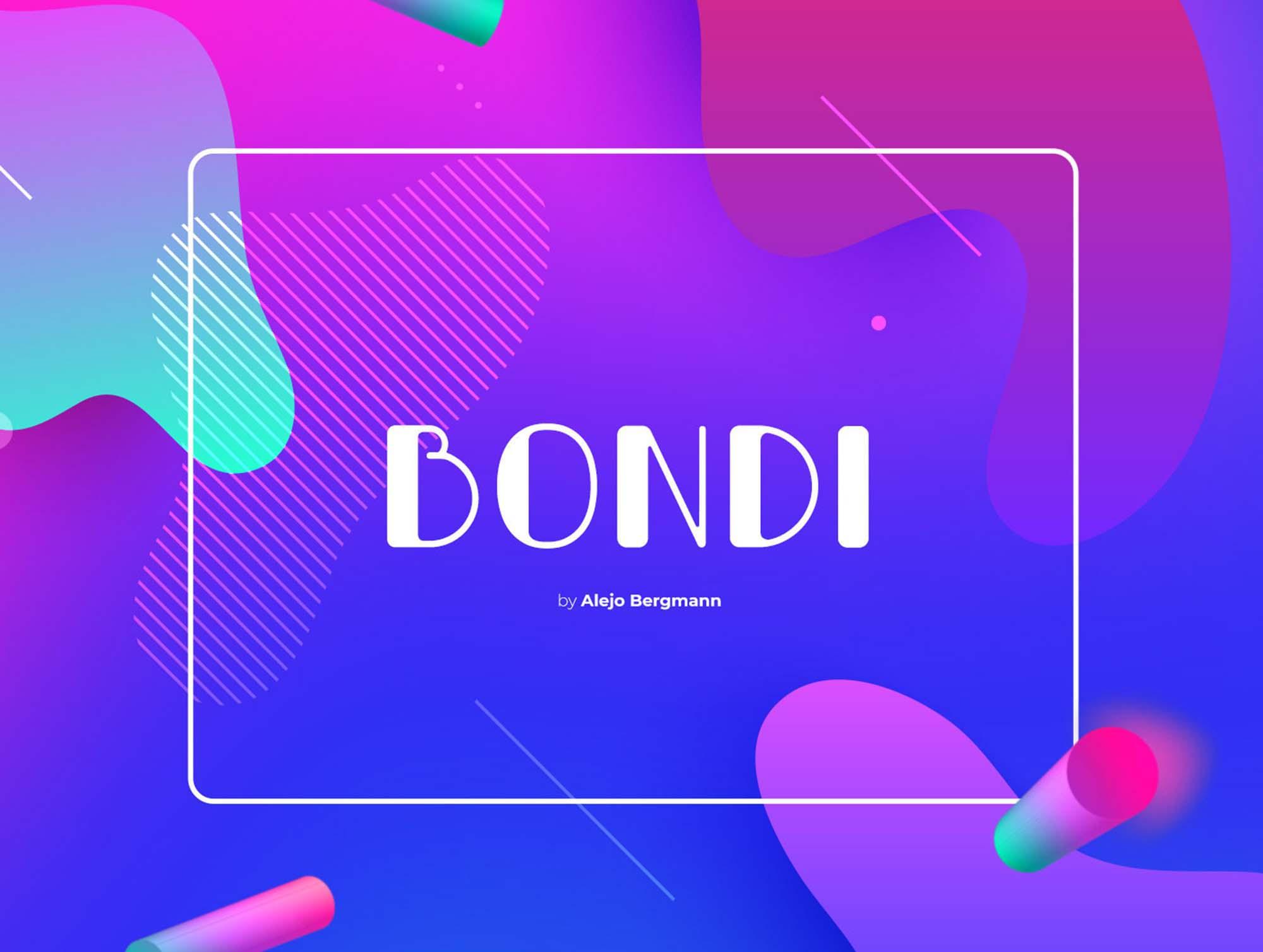 Bondi Font