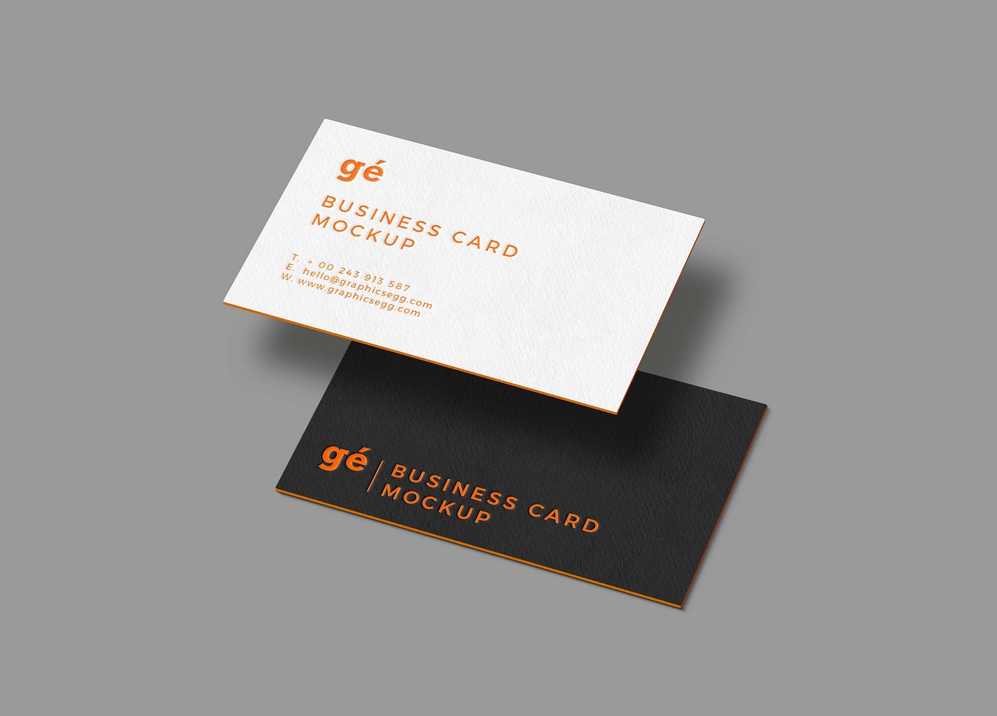 Free Floating Business Cards Mockup Psd