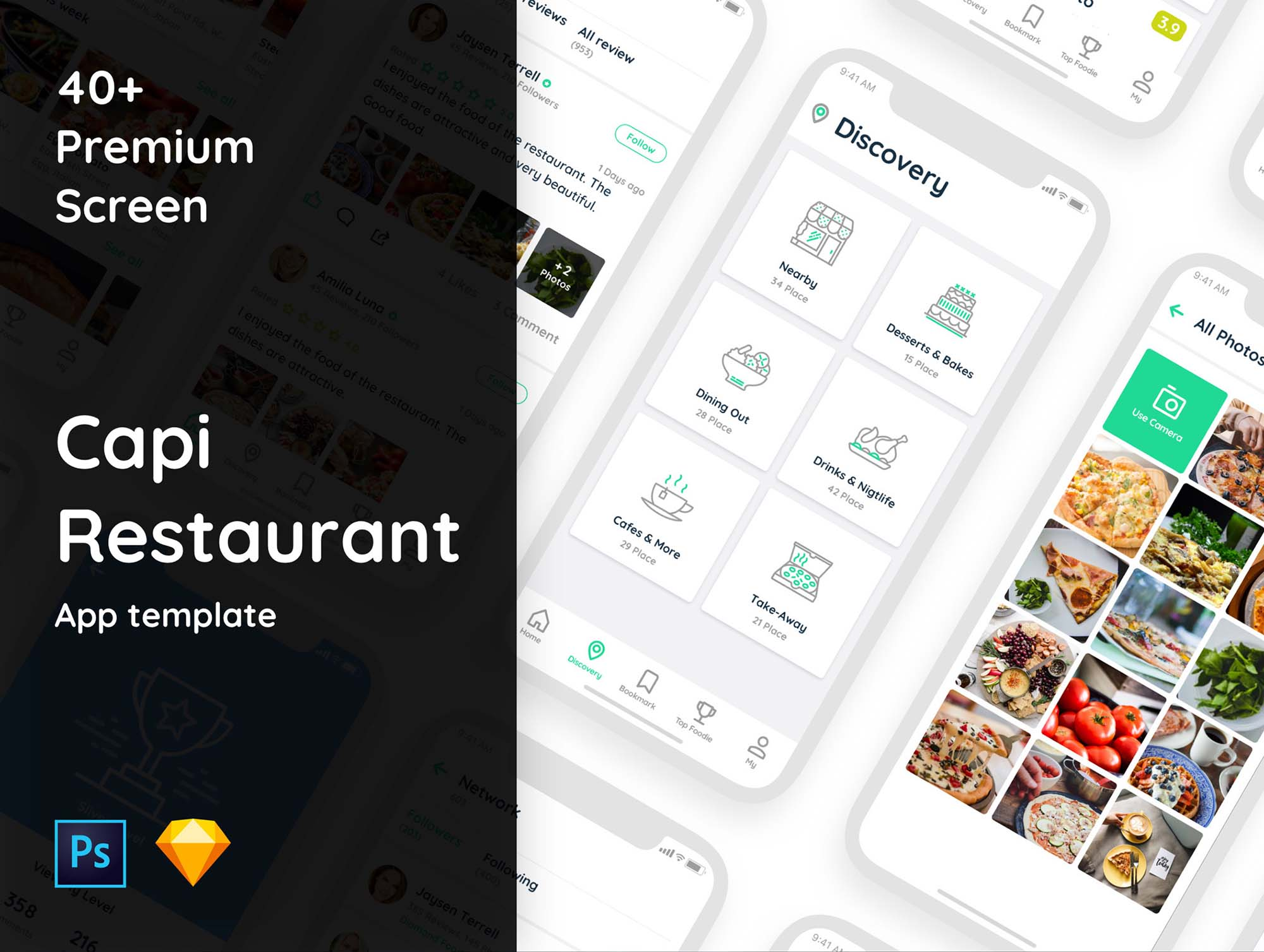 Capi IOS Restaurant Ui Kit