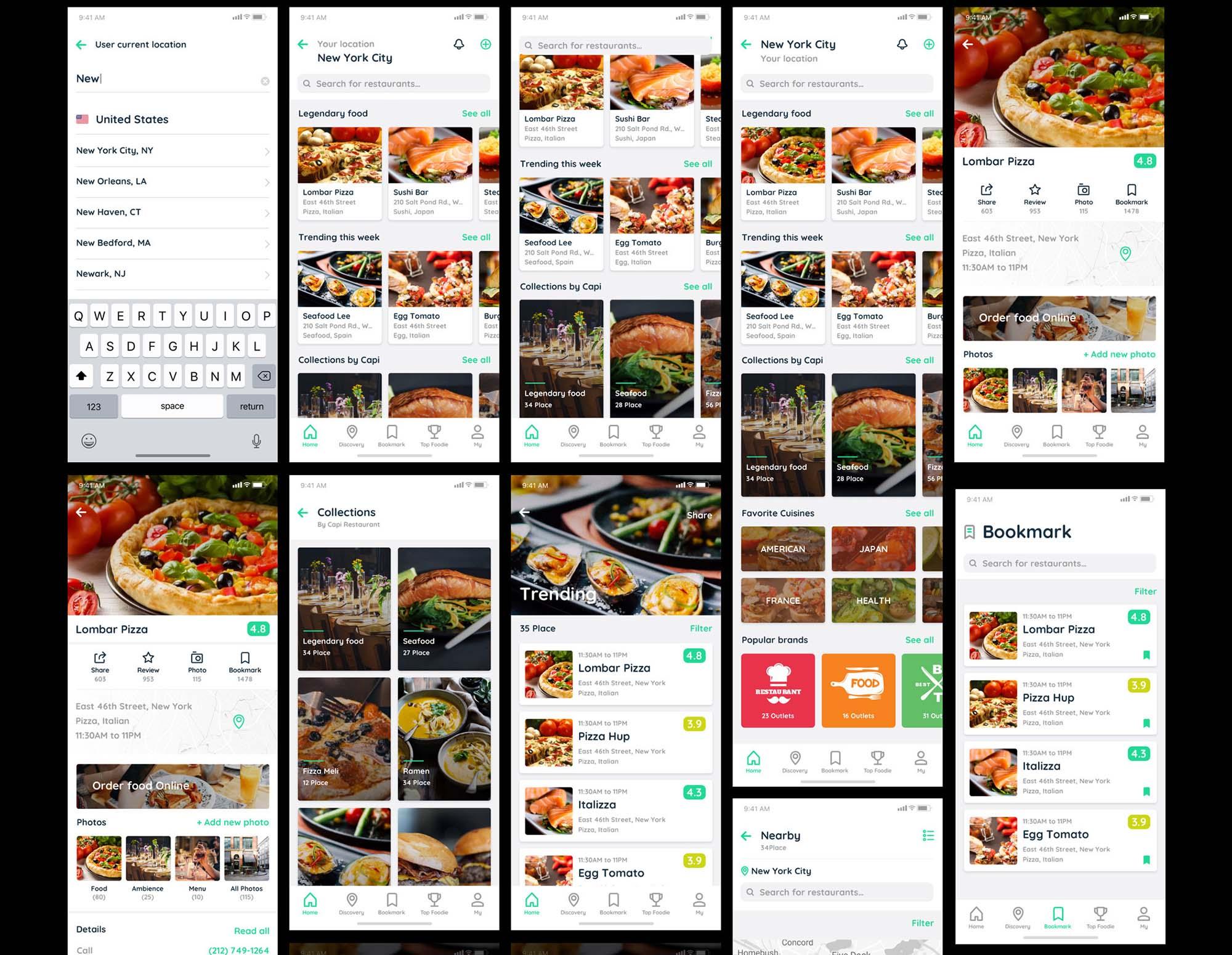 Capi Free IOS Restaurant Ui Kit (PSD, Sketch)