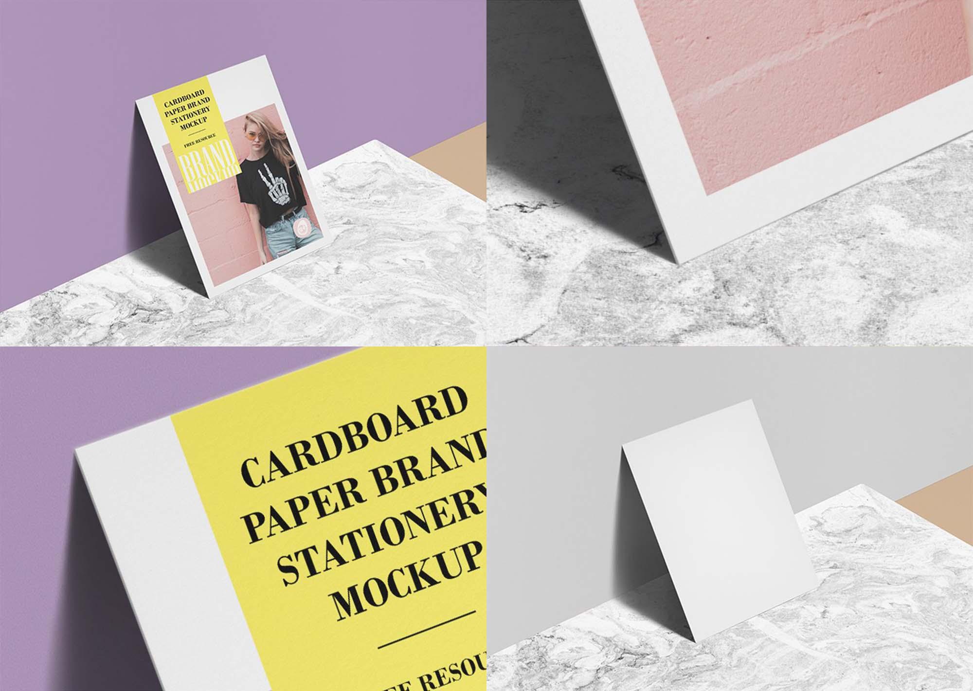 Cardboard Paper Branding Mockup