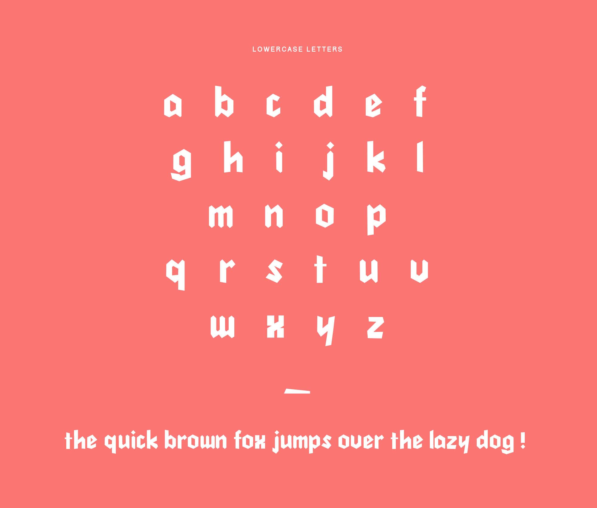 Cleankut Font Lowercase