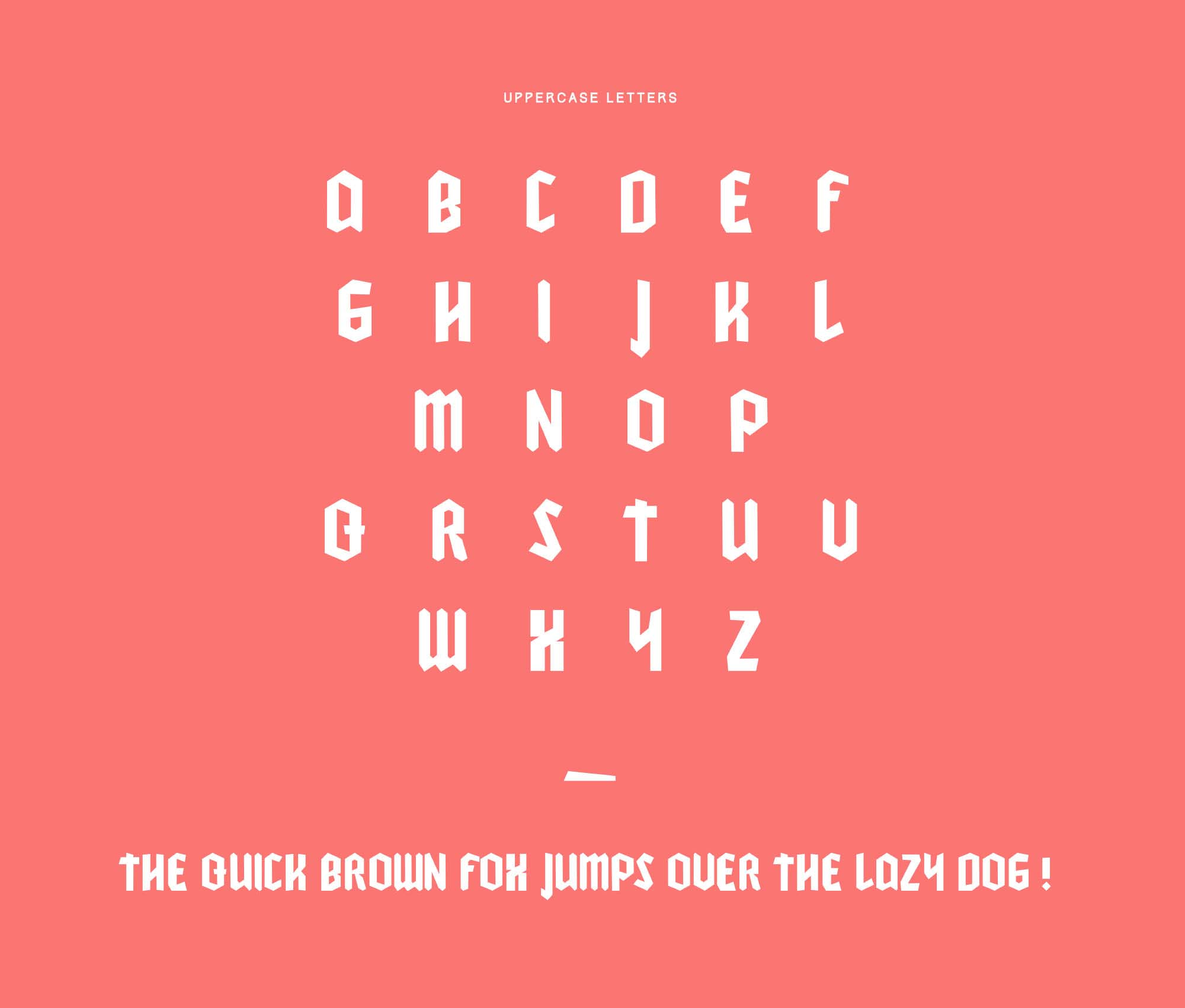 Cleankut Font Uppercase
