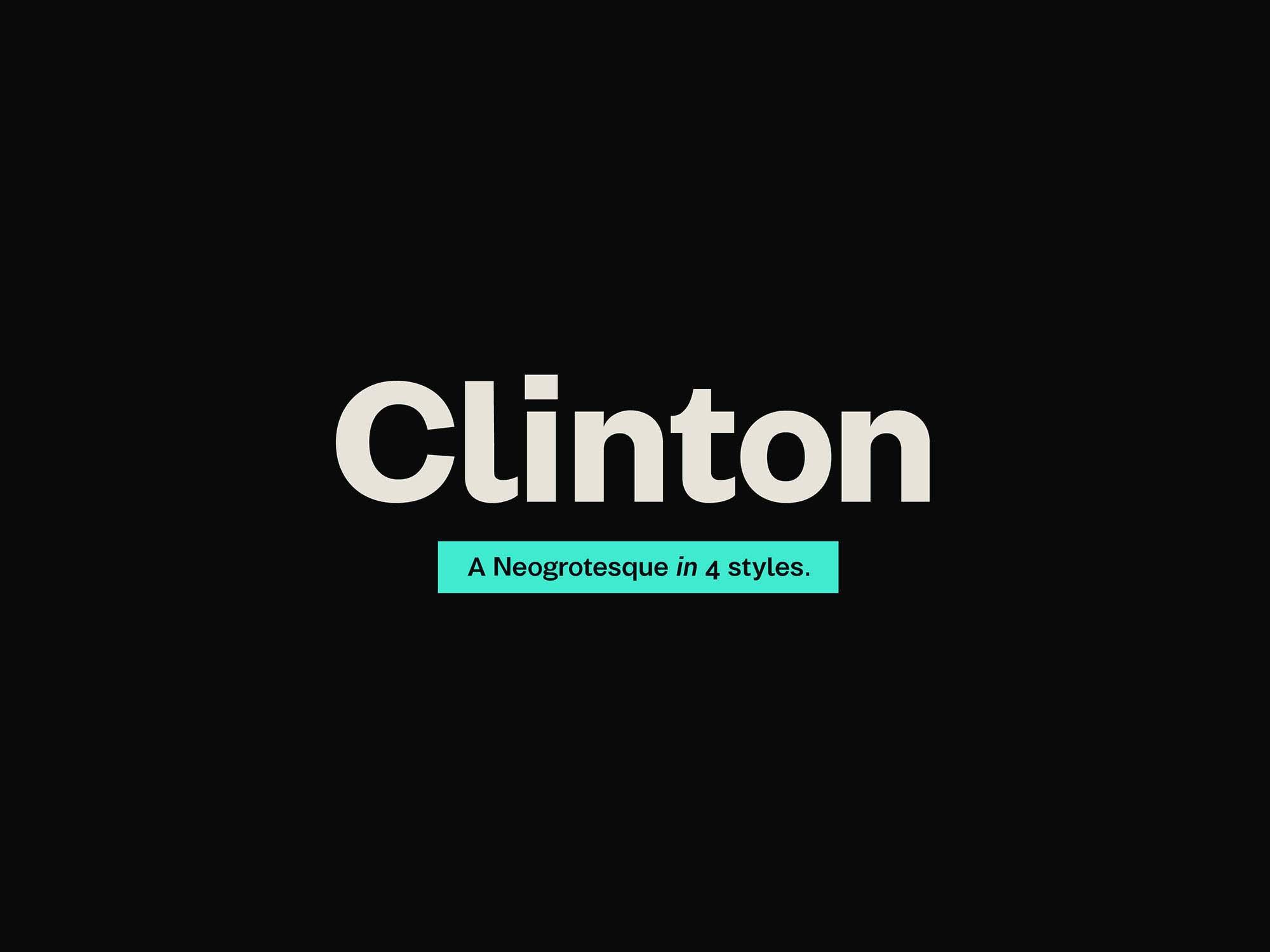 Clinton Font