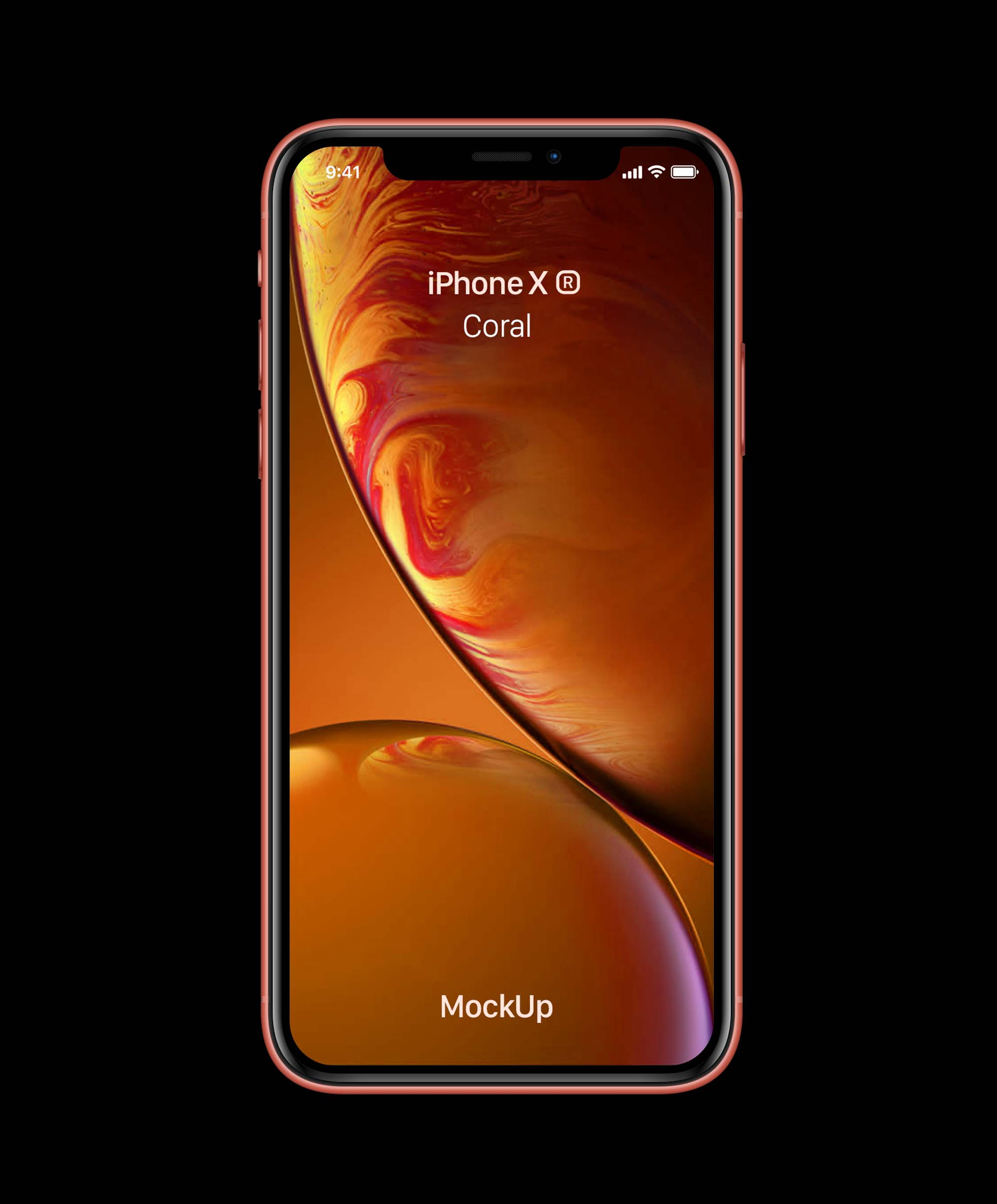 Coral iPhone XR Mockup