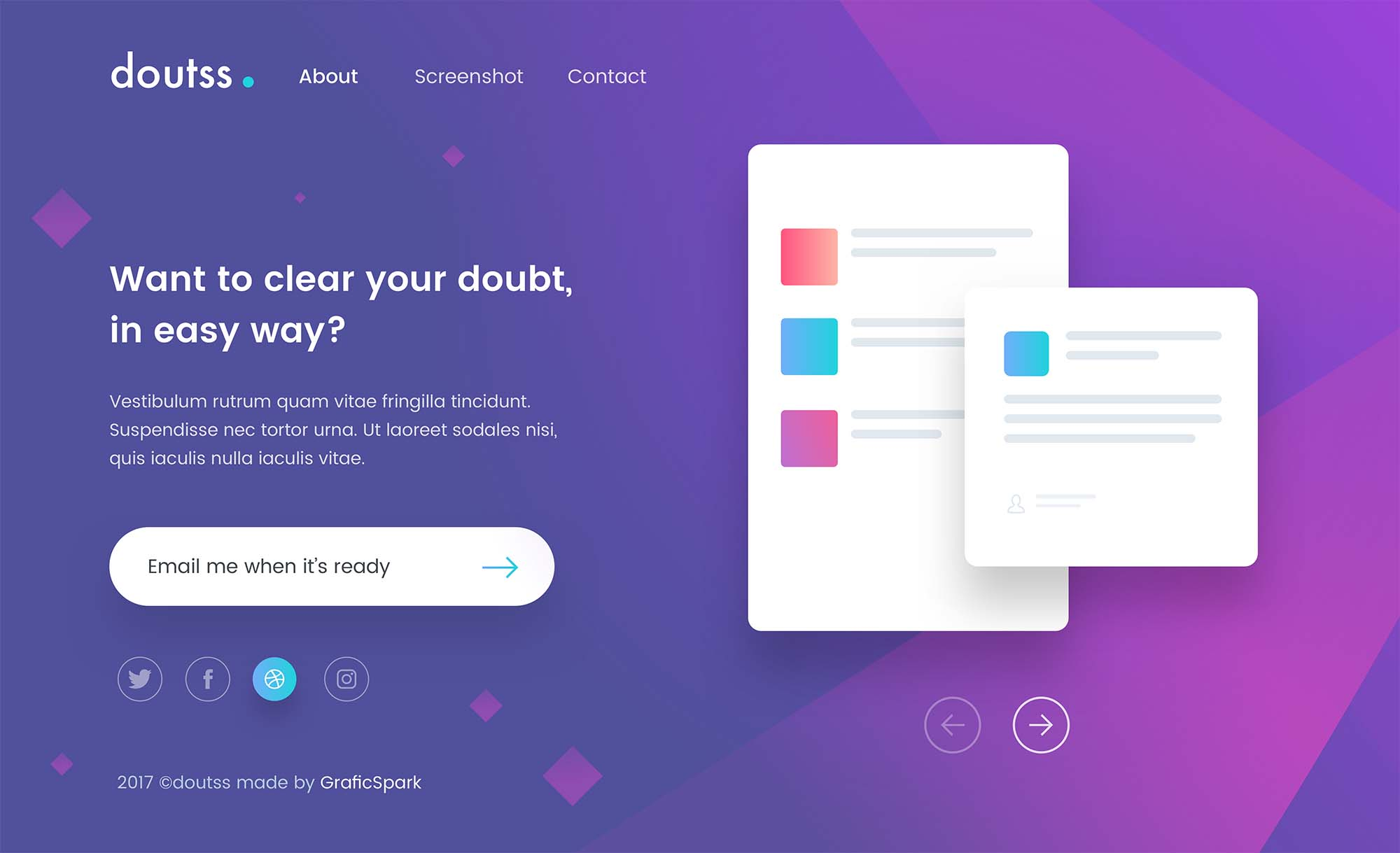 Doutss Landing Page